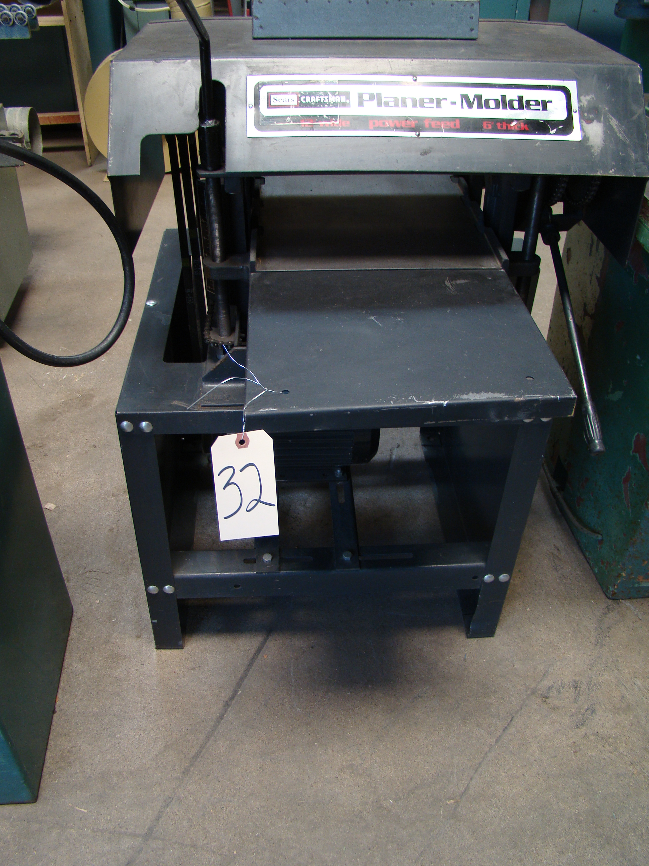 """Craftsman 12"""" Planer/Moulder, Power Feed, 6"""" thick 2 HP 115/230 Volt 1PH - Image 8 of 8"""