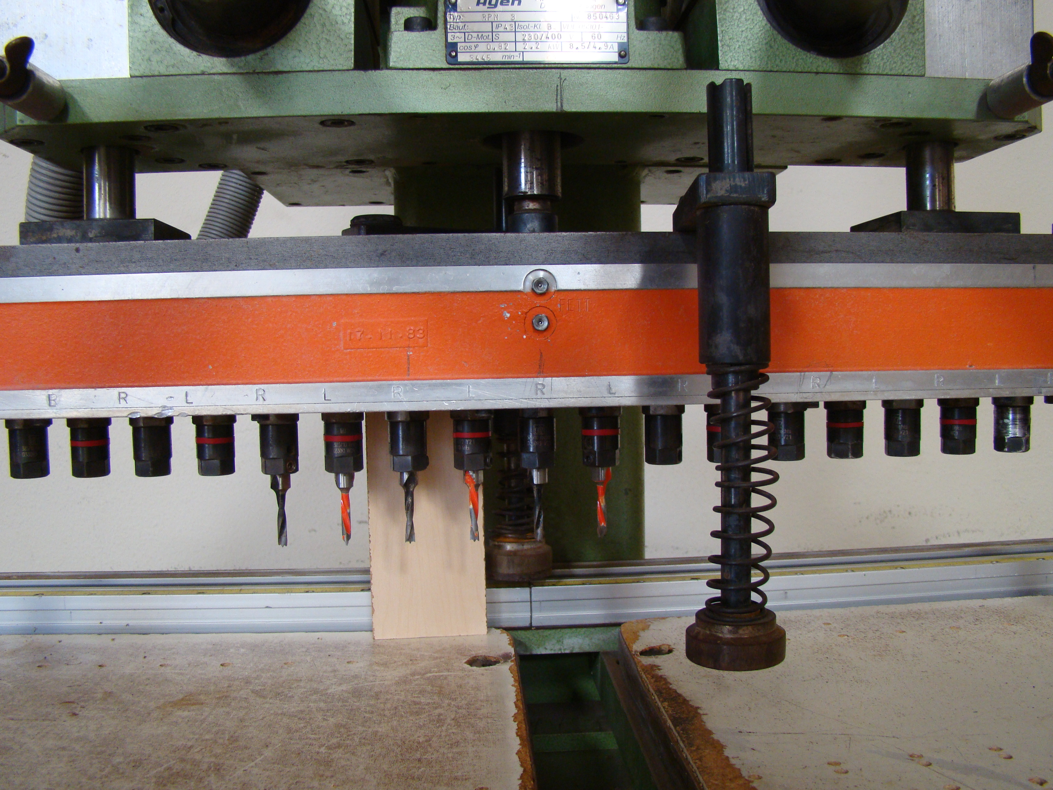 Ayen 21 Spindle Pneumatic Line Boring Machine with foot pedal, 230/460 Volt 3PH - Image 5 of 9