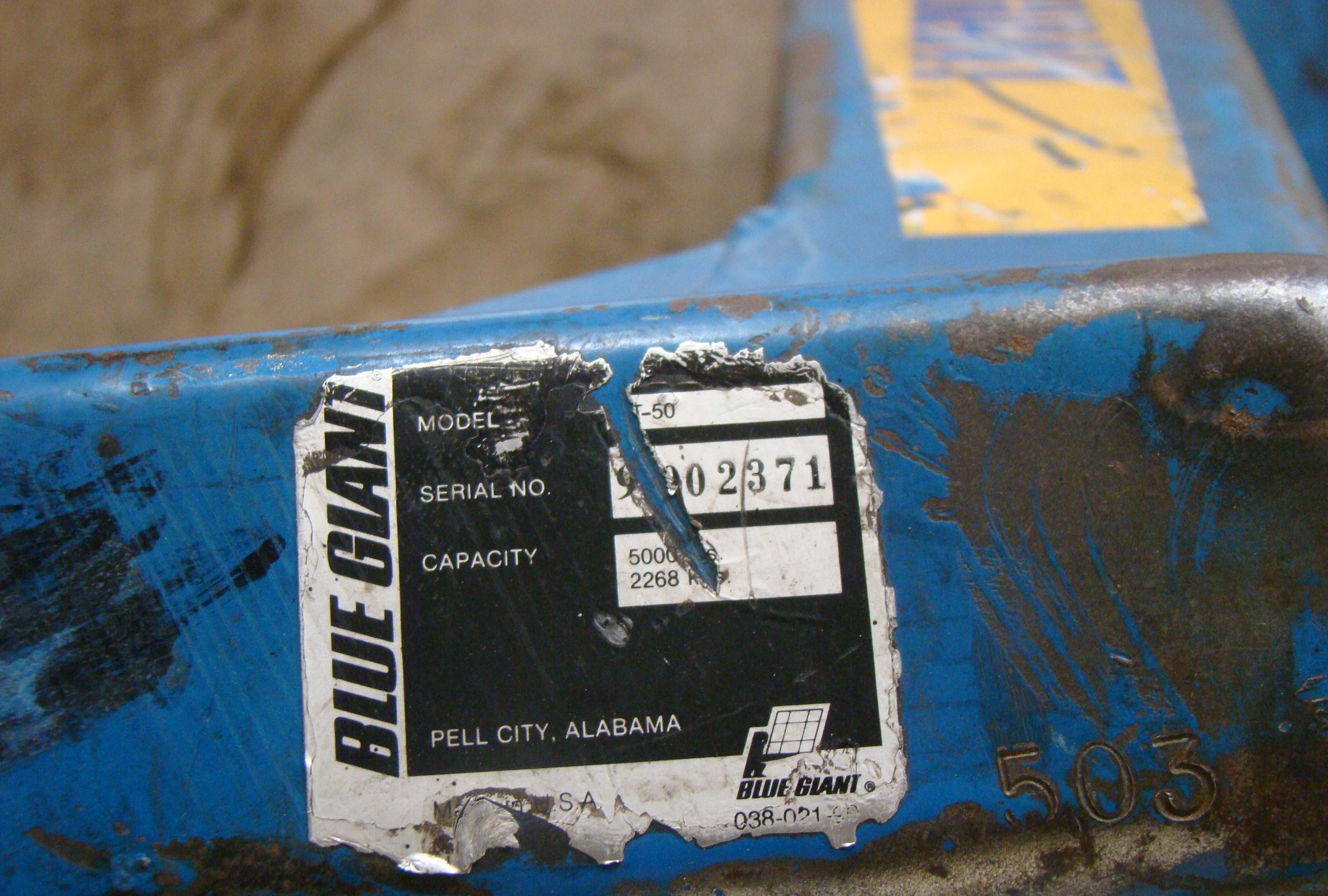 Blue Giant Pallet Jack, Model T50 - Image 4 of 4