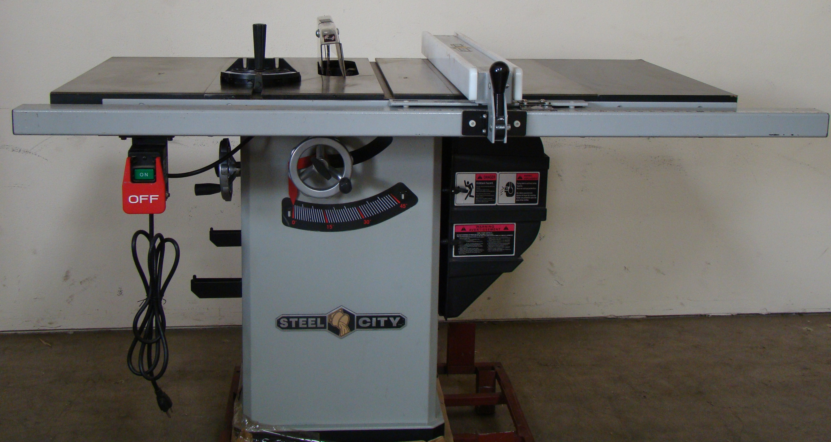 """Steel City Table/Cabinet Saw Model 35600, 34"""" Rails 1-3/4 HP 120/240 Volt 1PH - Image 6 of 7"""