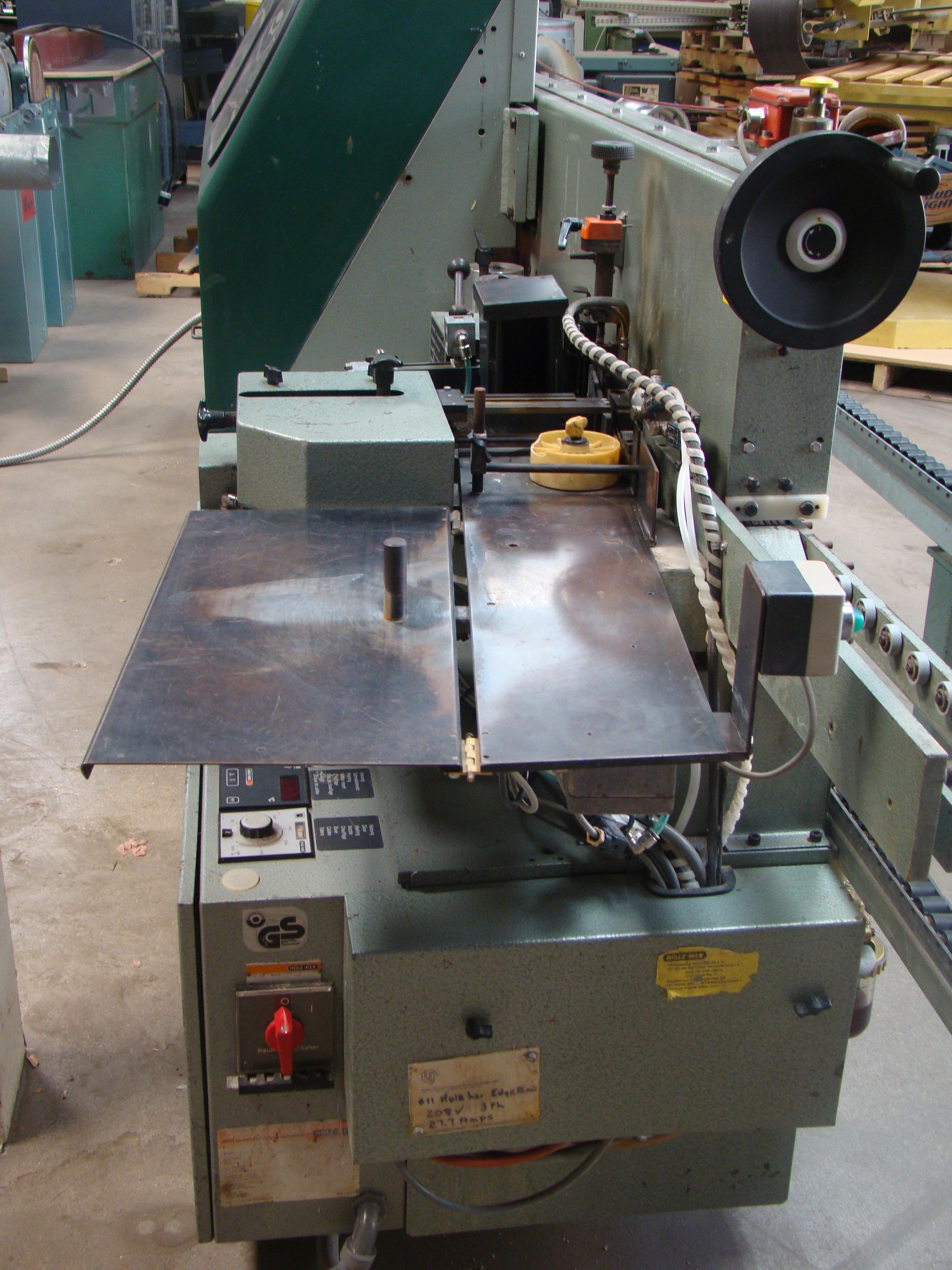 Holz-Her Edge Bander 1408 Pressure Roller, Uses GluJet, End trim stations, Flush/Bevel Scraper, - Image 4 of 10