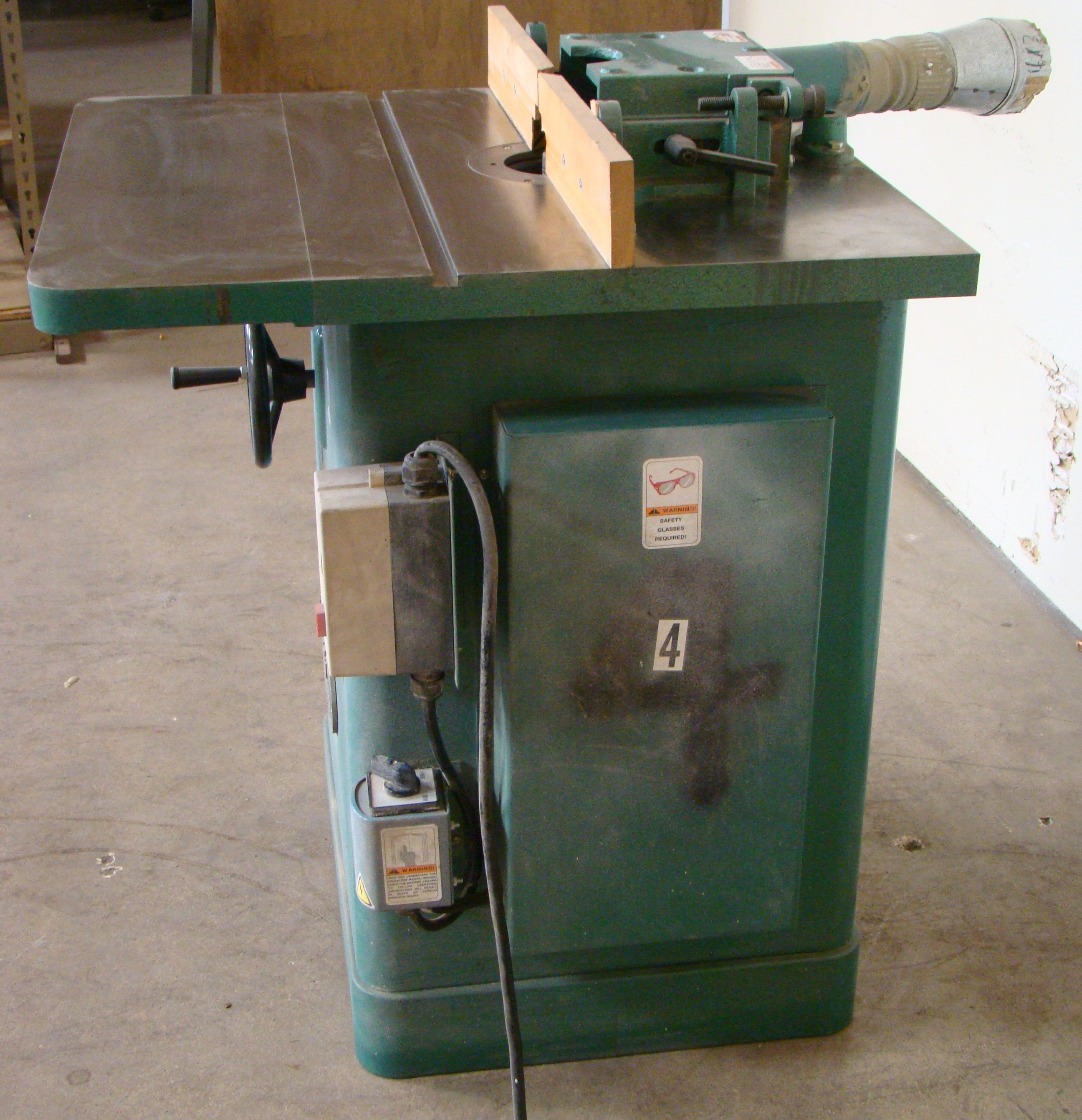 """Grizzly Wood Shaper 3/4"""" Spindle 3HP 230 Volt 1 PH - Image 4 of 4"""