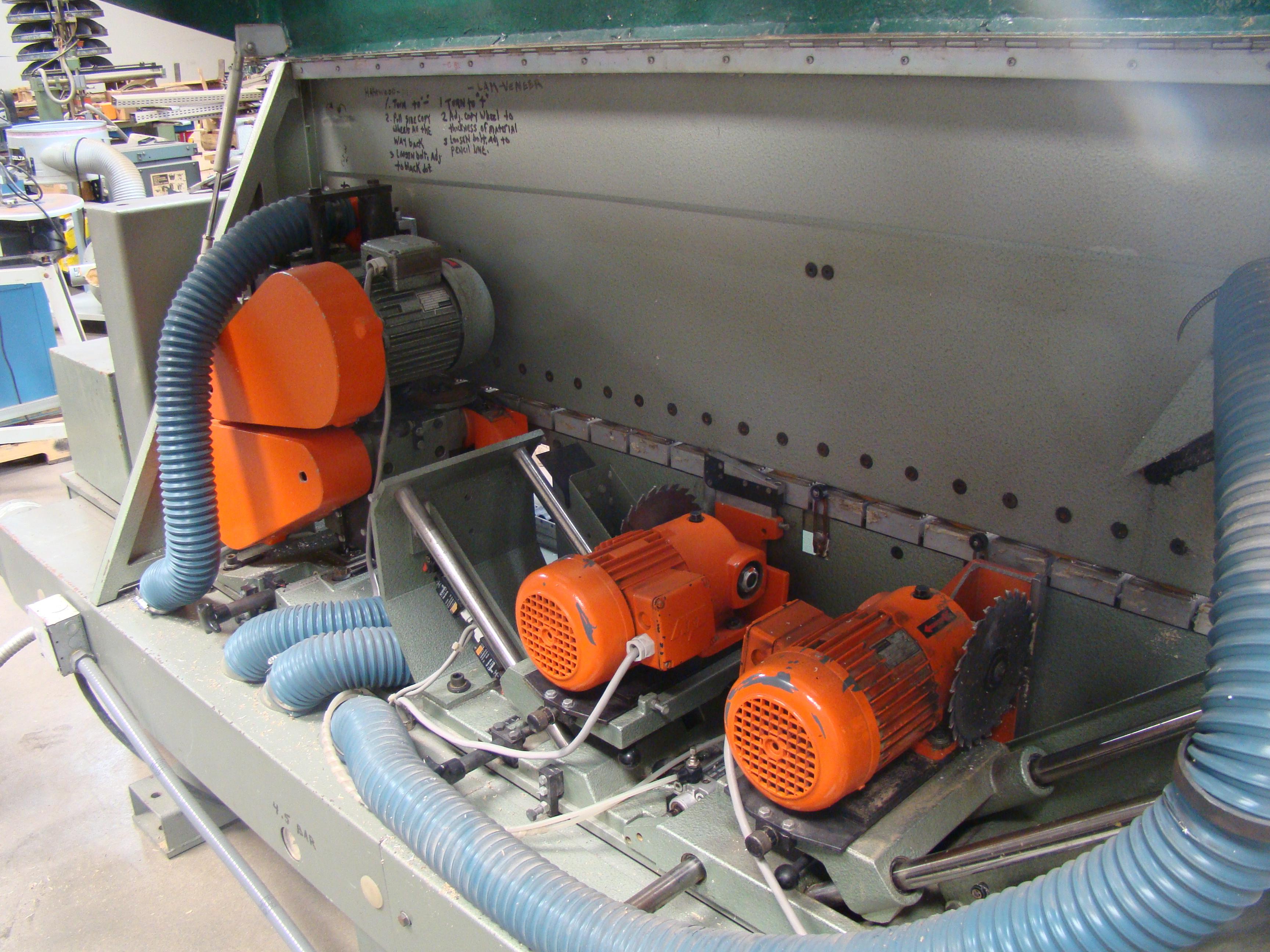 Holz-Her Edge Bander 1408 Pressure Roller, Uses GluJet, End trim stations, Flush/Bevel Scraper, - Image 6 of 10