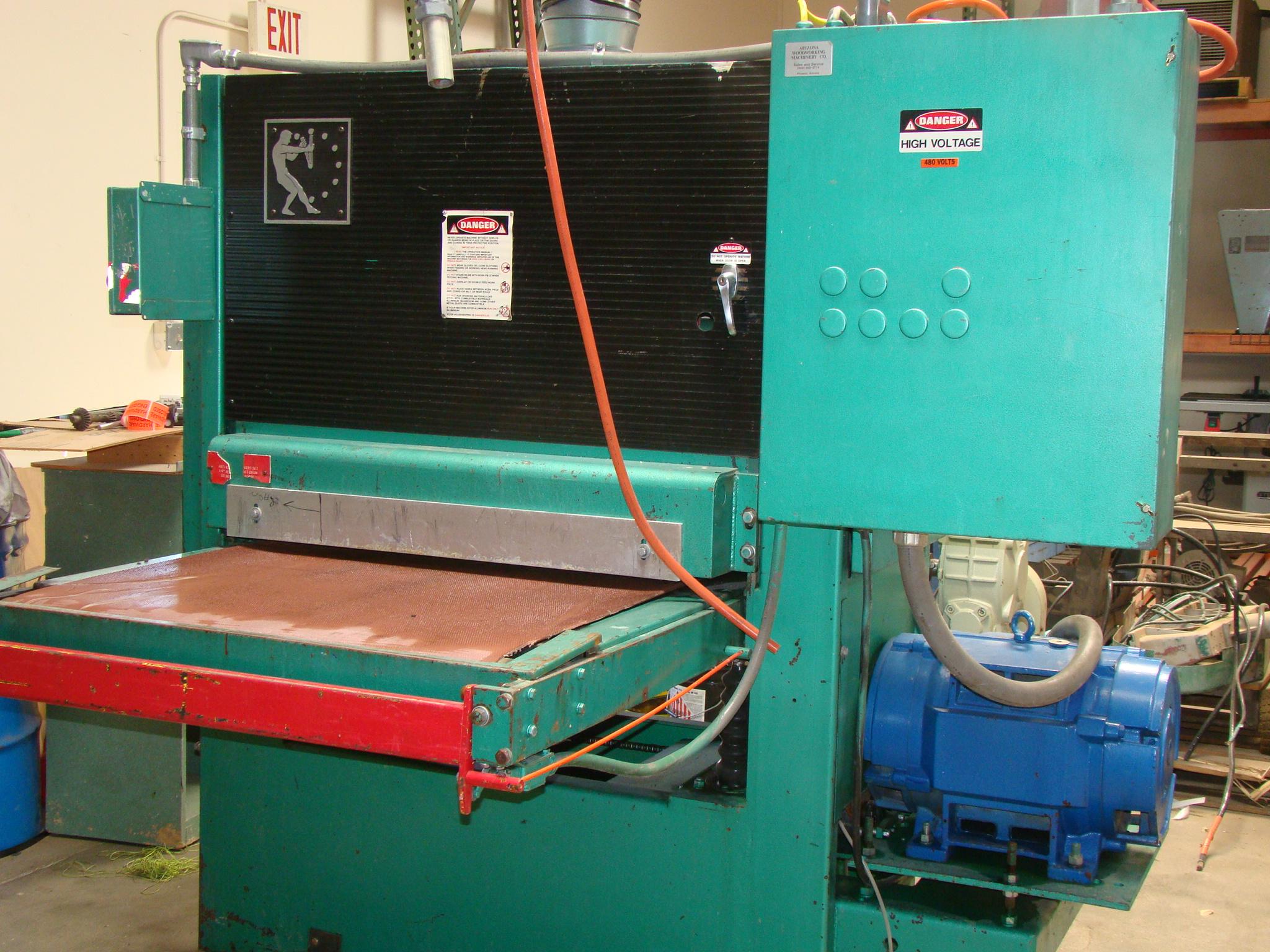 """Time Saver Speedbelt 37"""" Sander Model 237-1A 40 HP 230/460 Volt 3PH"""