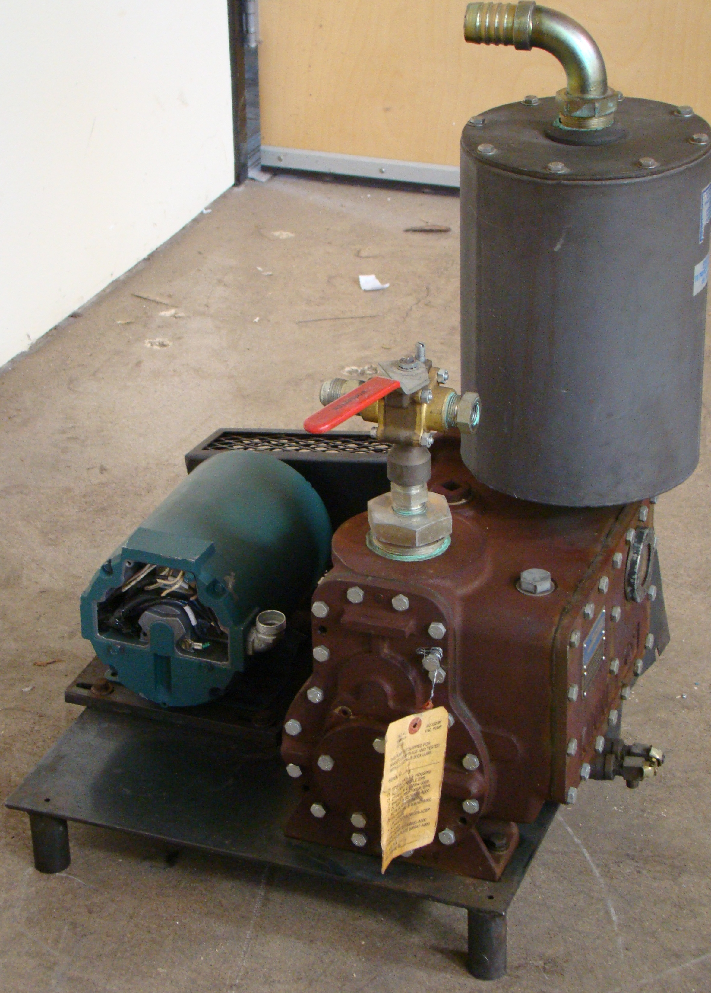 Kinney High Vacuum Hydraulic Pump 1HP 230/460 Volt 3PH - Image 2 of 4