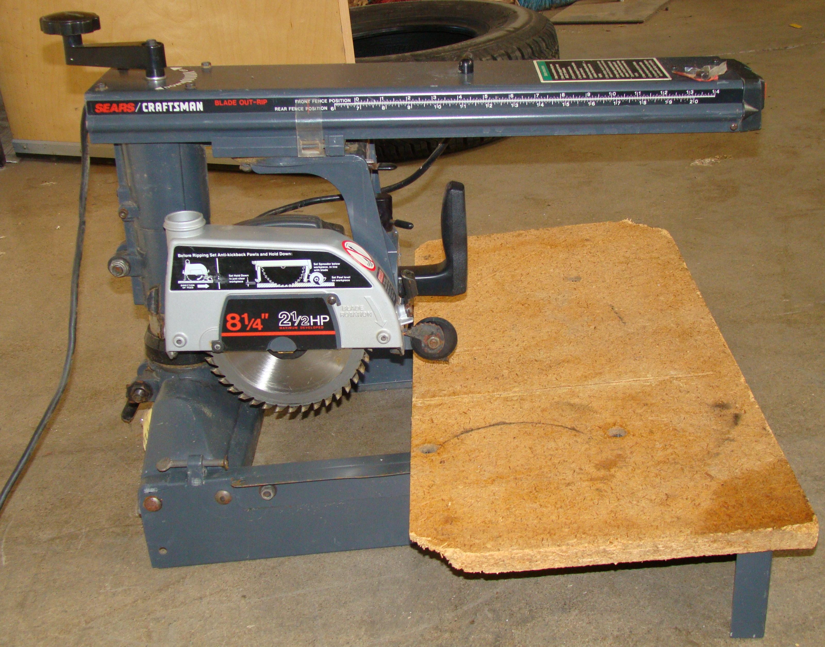 "Craftsman 8-1/4"" Radial Arm Saw 120 Volt - Image 2 of 5"