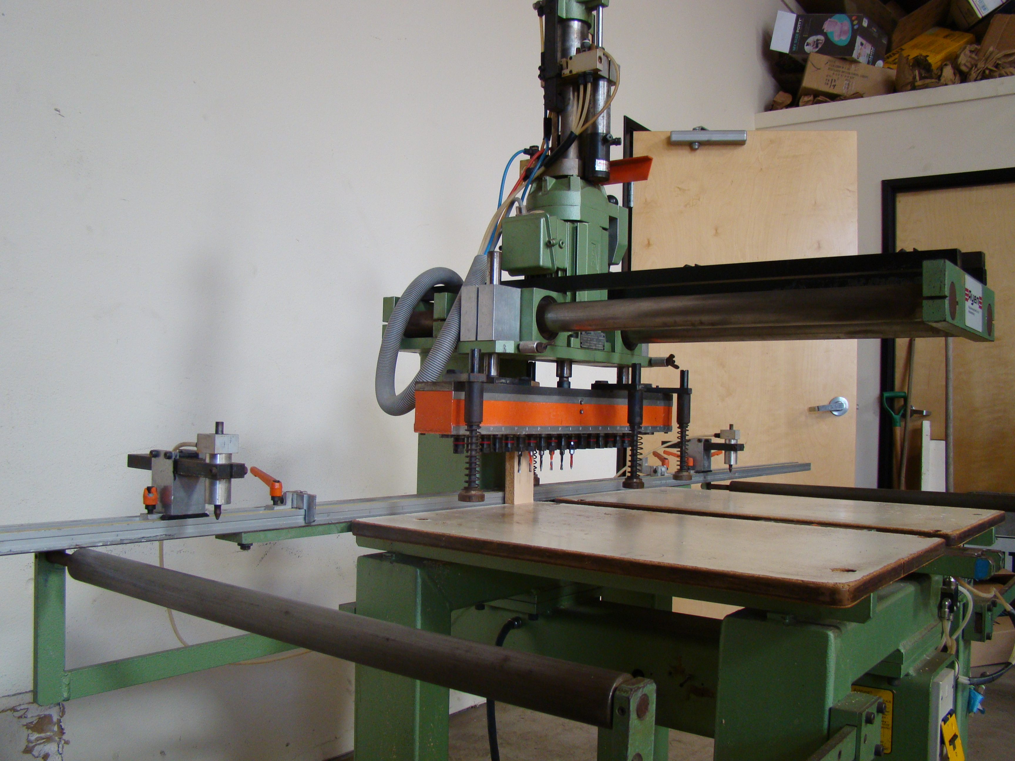 Ayen 21 Spindle Pneumatic Line Boring Machine with foot pedal, 230/460 Volt 3PH - Image 3 of 9