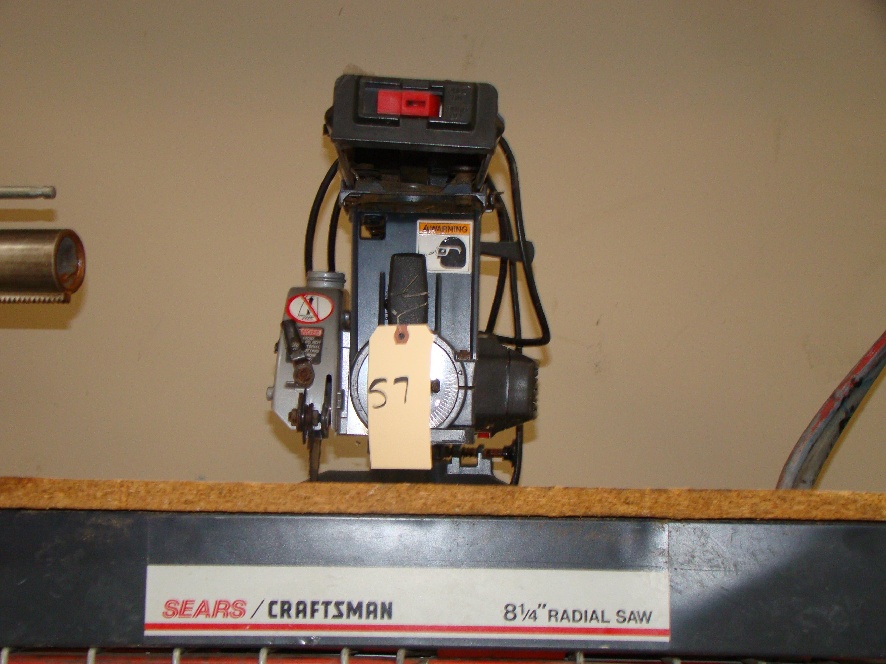 "Lot 57 - Craftsman 8-1/4"" Radial Arm Saw 120 Volt"