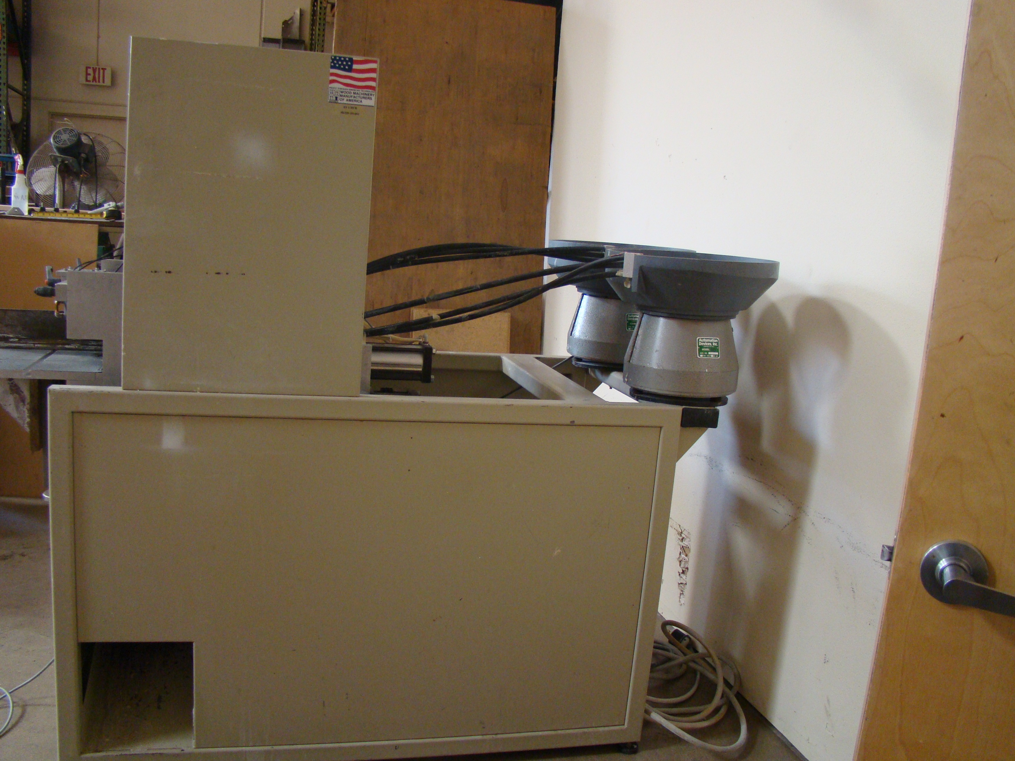 ACCU-Systems 366 Dowel Insertion Machine with Foot Pedal, Vibratory Bowl Feeders, Glue Pot 220 - Image 2 of 8