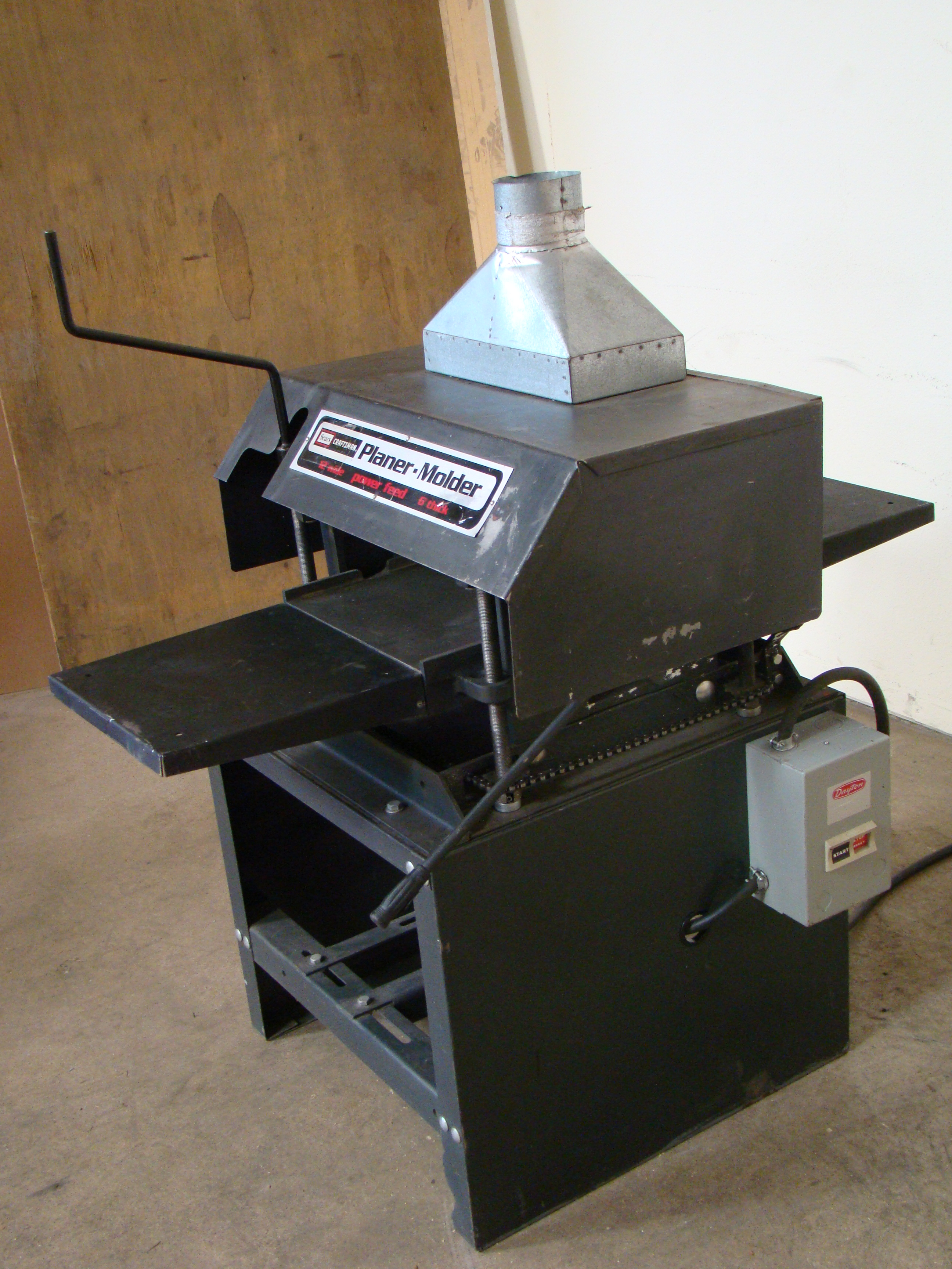 """Craftsman 12"""" Planer/Moulder, Power Feed, 6"""" thick 2 HP 115/230 Volt 1PH - Image 2 of 8"""