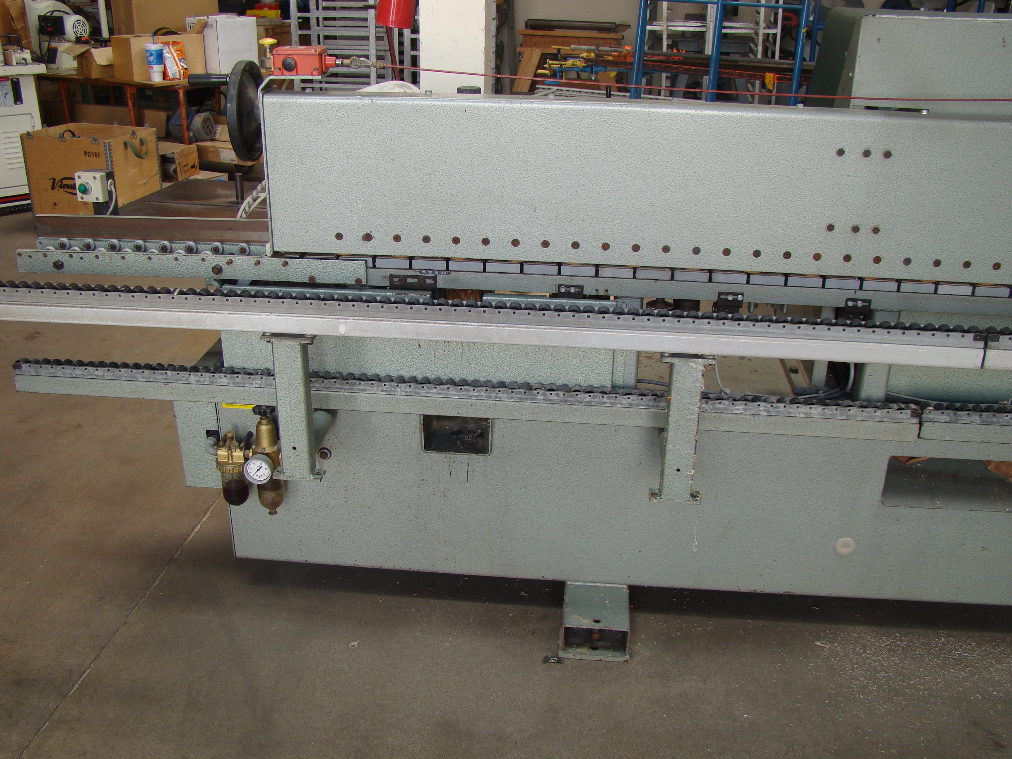 Holz-Her Edge Bander 1408 Pressure Roller, Uses GluJet, End trim stations, Flush/Bevel Scraper, - Image 10 of 10