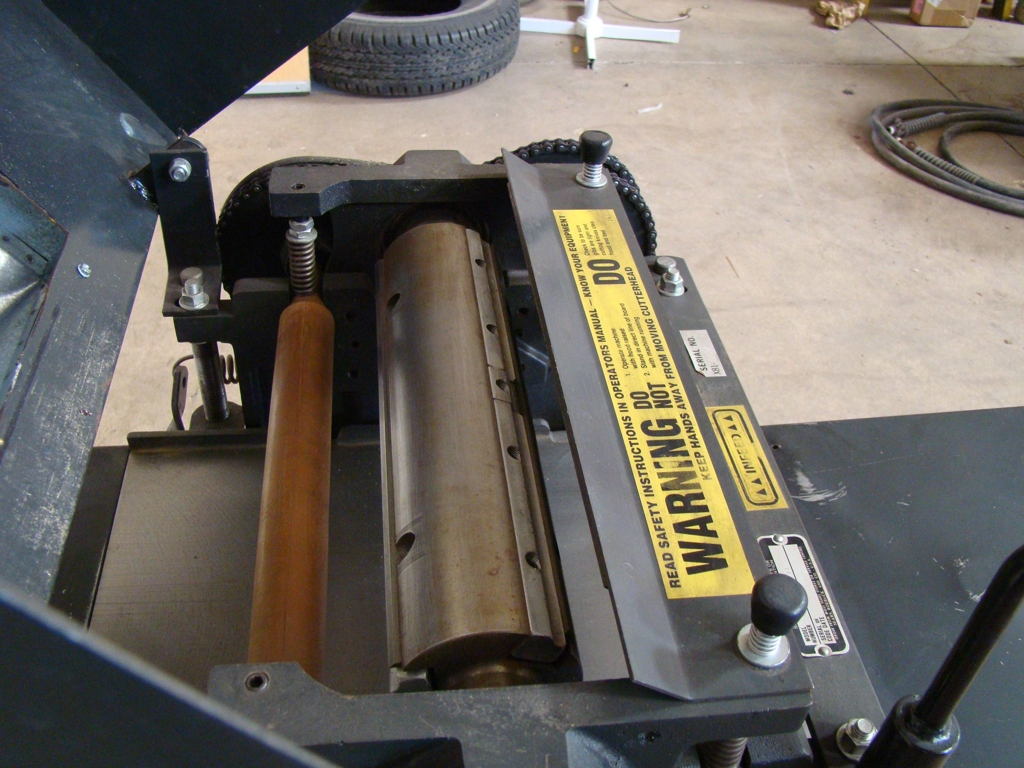 """Craftsman 12"""" Planer/Moulder, Power Feed, 6"""" thick 2 HP 115/230 Volt 1PH - Image 5 of 8"""
