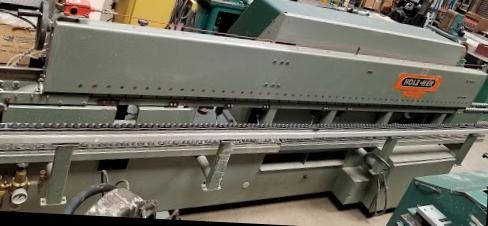 Holz-Her Edge Bander 1408 Pressure Roller, Uses GluJet, End trim stations, Flush/Bevel Scraper,