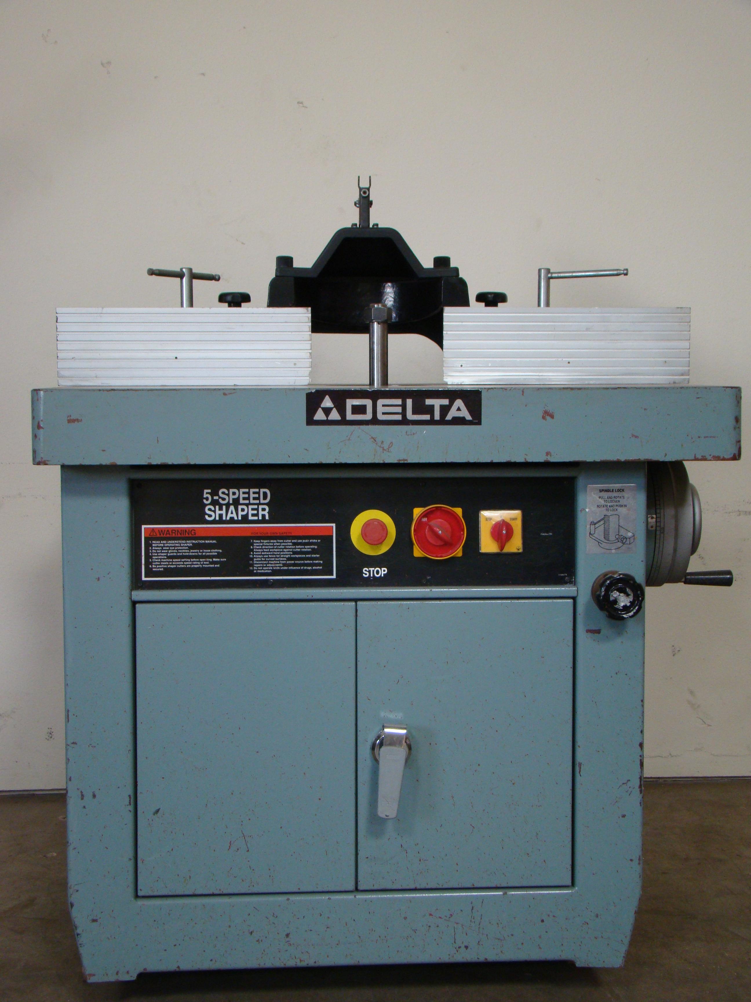 "Delta Wood Shaper 43-791 5 speed 1-1/4"" Spindle 7.5 HP 200-220/440 Volt 3PH"