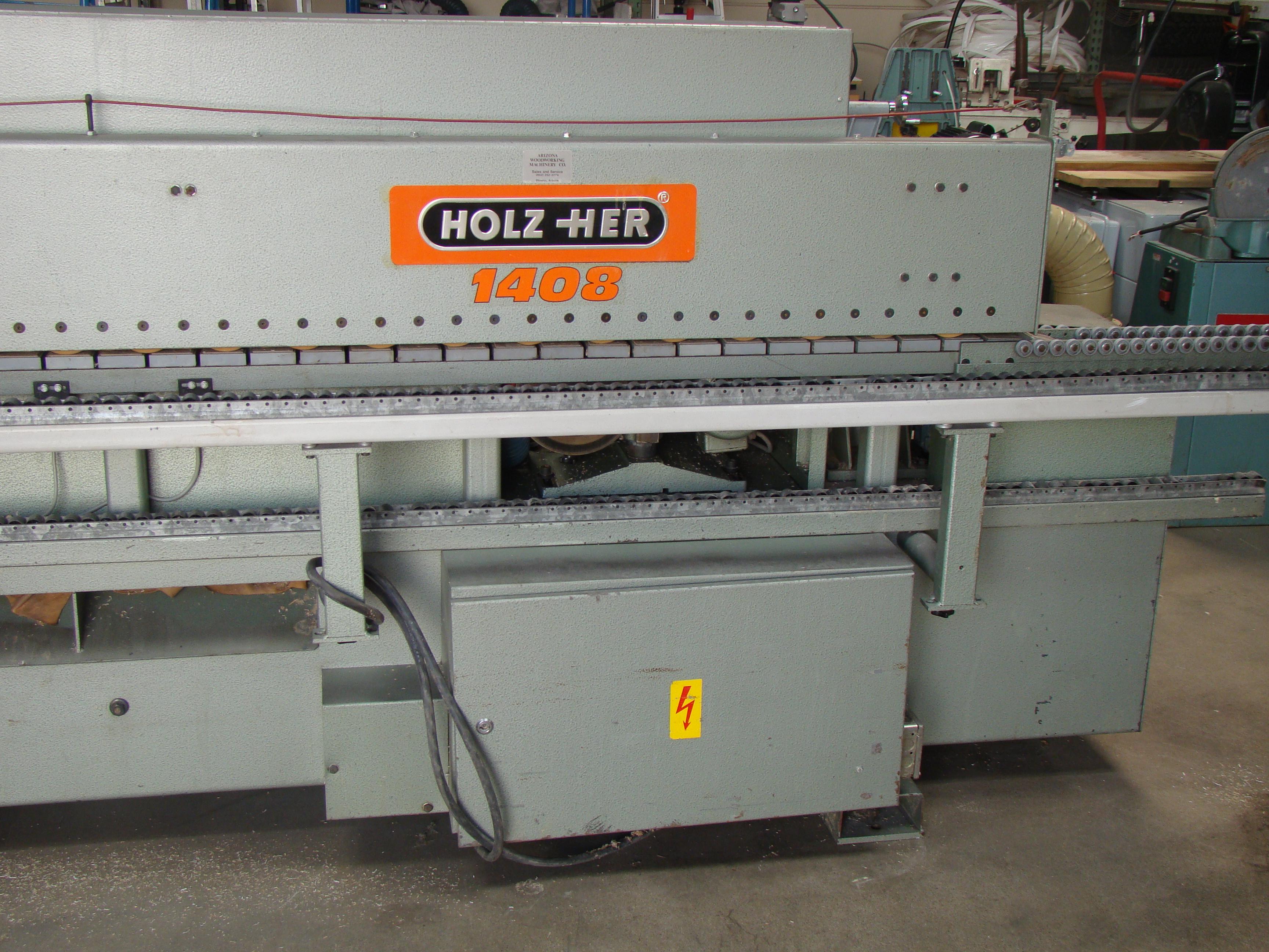 Holz-Her Edge Bander 1408 Pressure Roller, Uses GluJet, End trim stations, Flush/Bevel Scraper, - Image 3 of 10