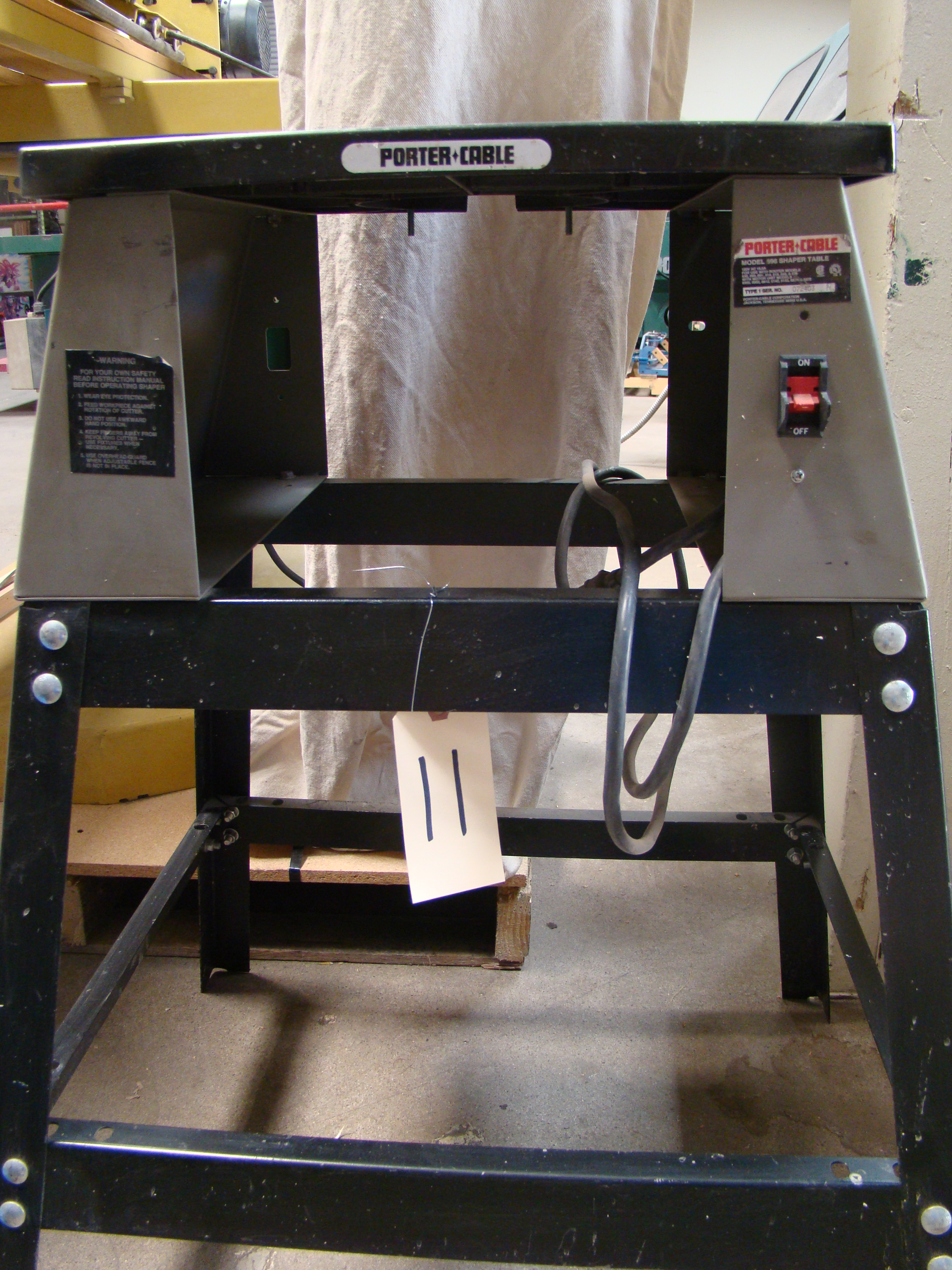 Porter Cable #6960 Router/Shaper Table and Stand only - Image 2 of 2