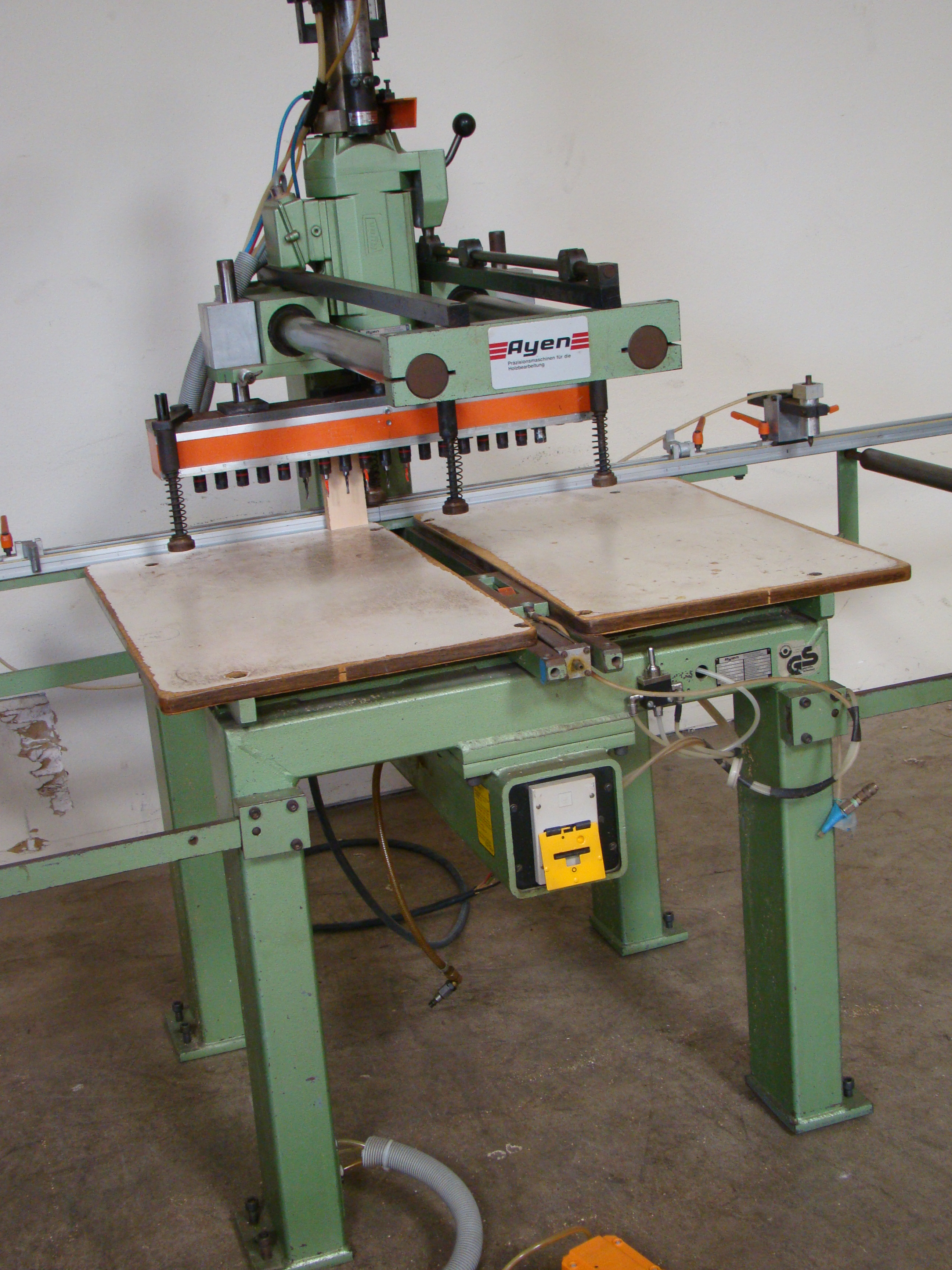 Ayen 21 Spindle Pneumatic Line Boring Machine with foot pedal, 230/460 Volt 3PH - Image 2 of 9