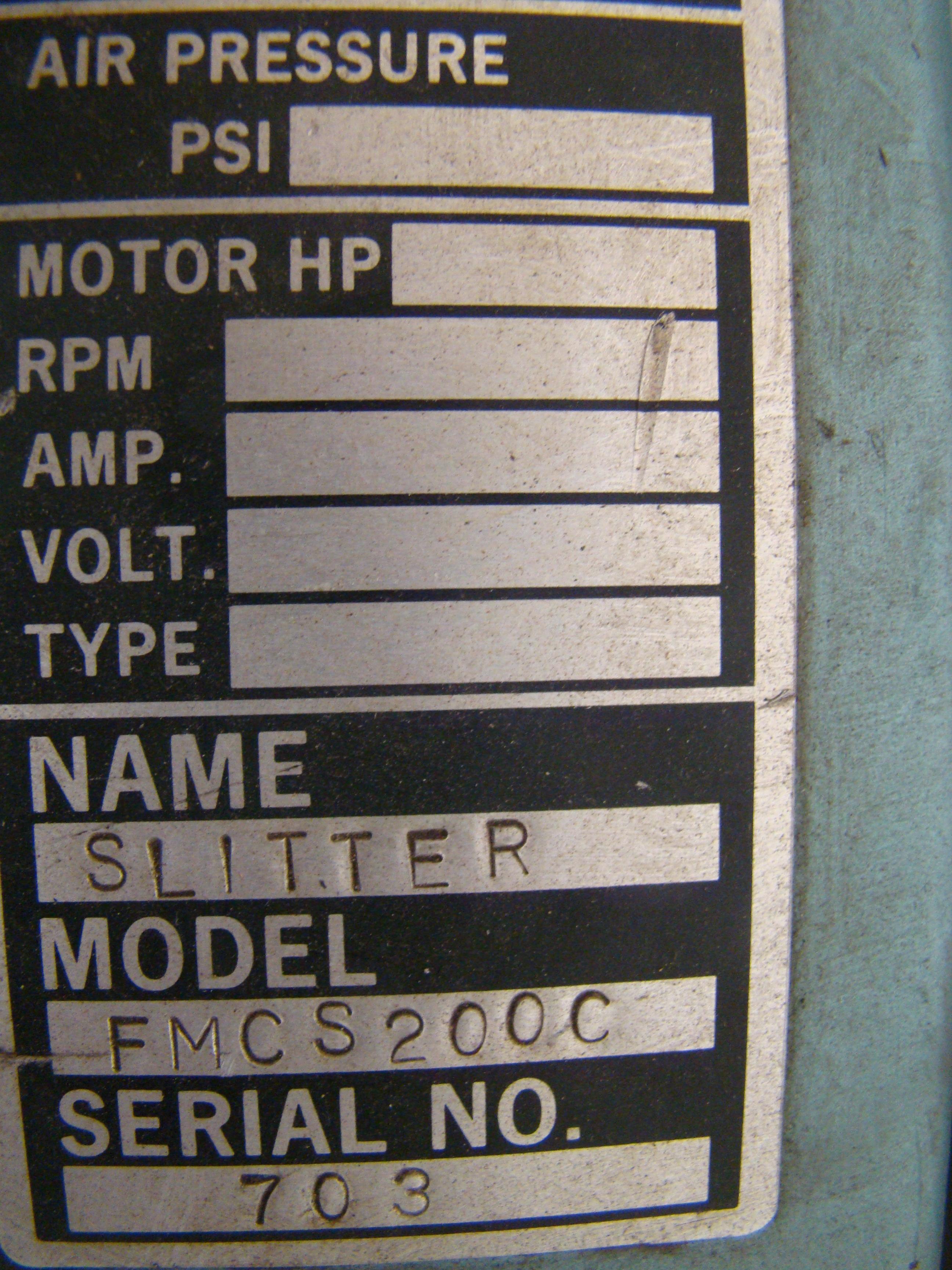 "Falcon 14"" Laminate Slitter Model FMCS200C 1/3HP 115/230 Volt - Image 4 of 6"