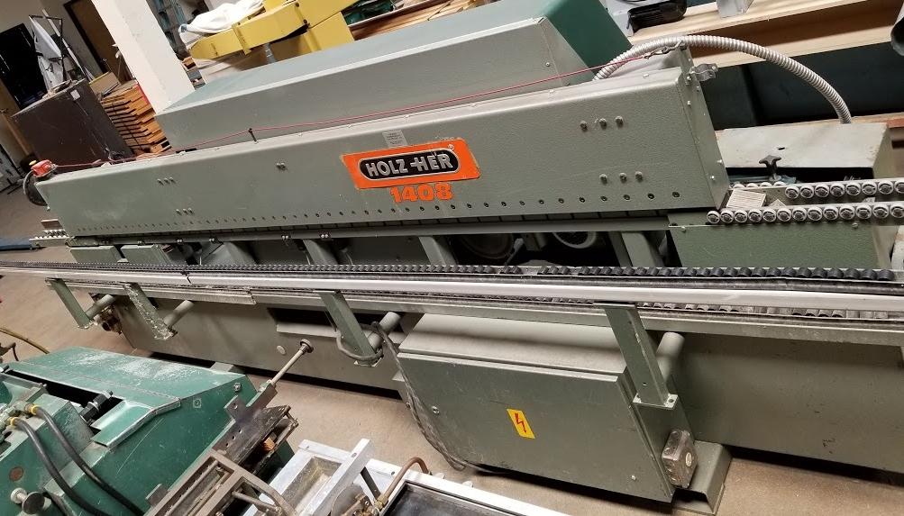 Holz-Her Edge Bander 1408 Pressure Roller, Uses GluJet, End trim stations, Flush/Bevel Scraper, - Image 2 of 10