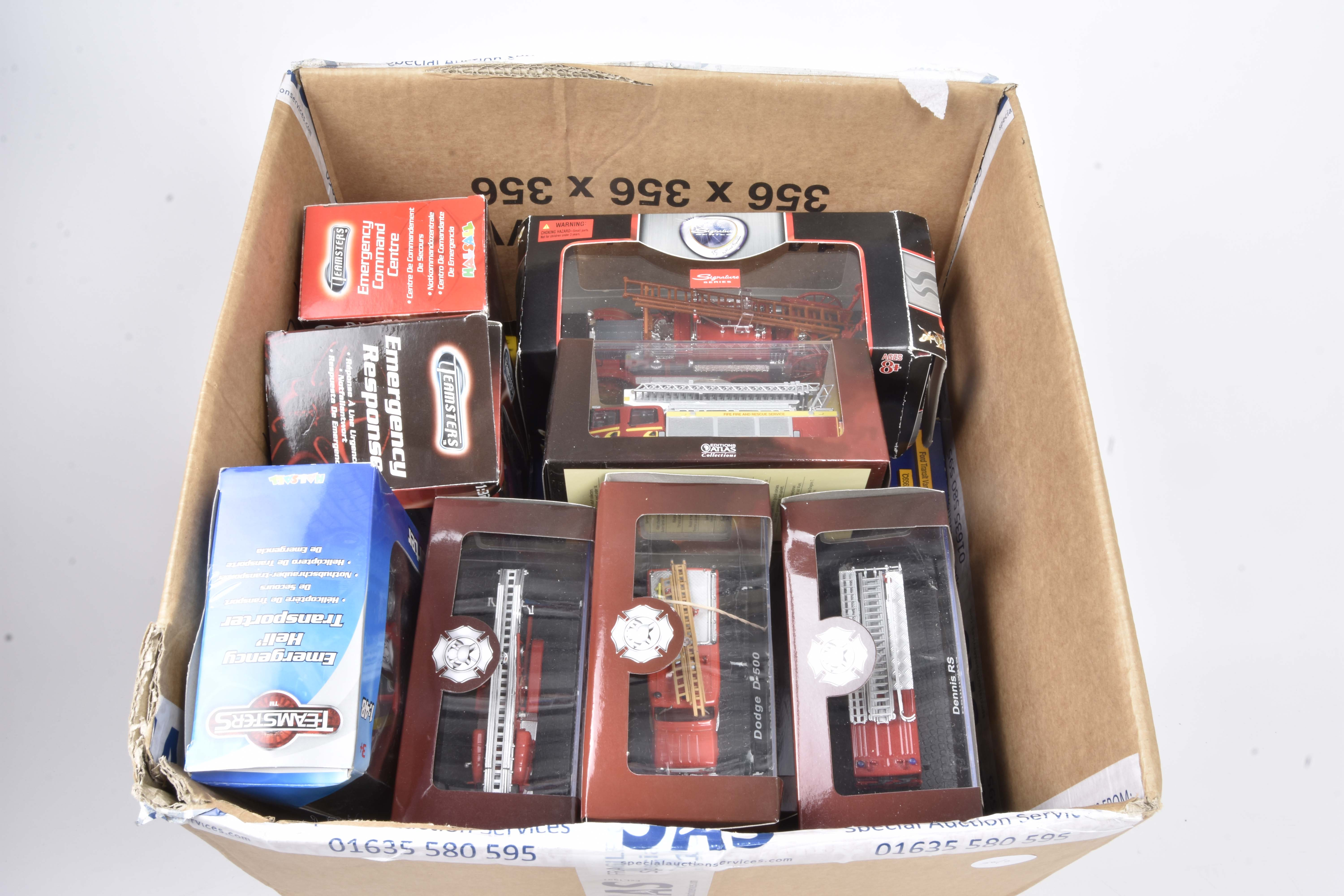 Modern Diecast Fire Engines and Related Vehicles, a boxed/cased collection including Atlas - Image 2 of 2