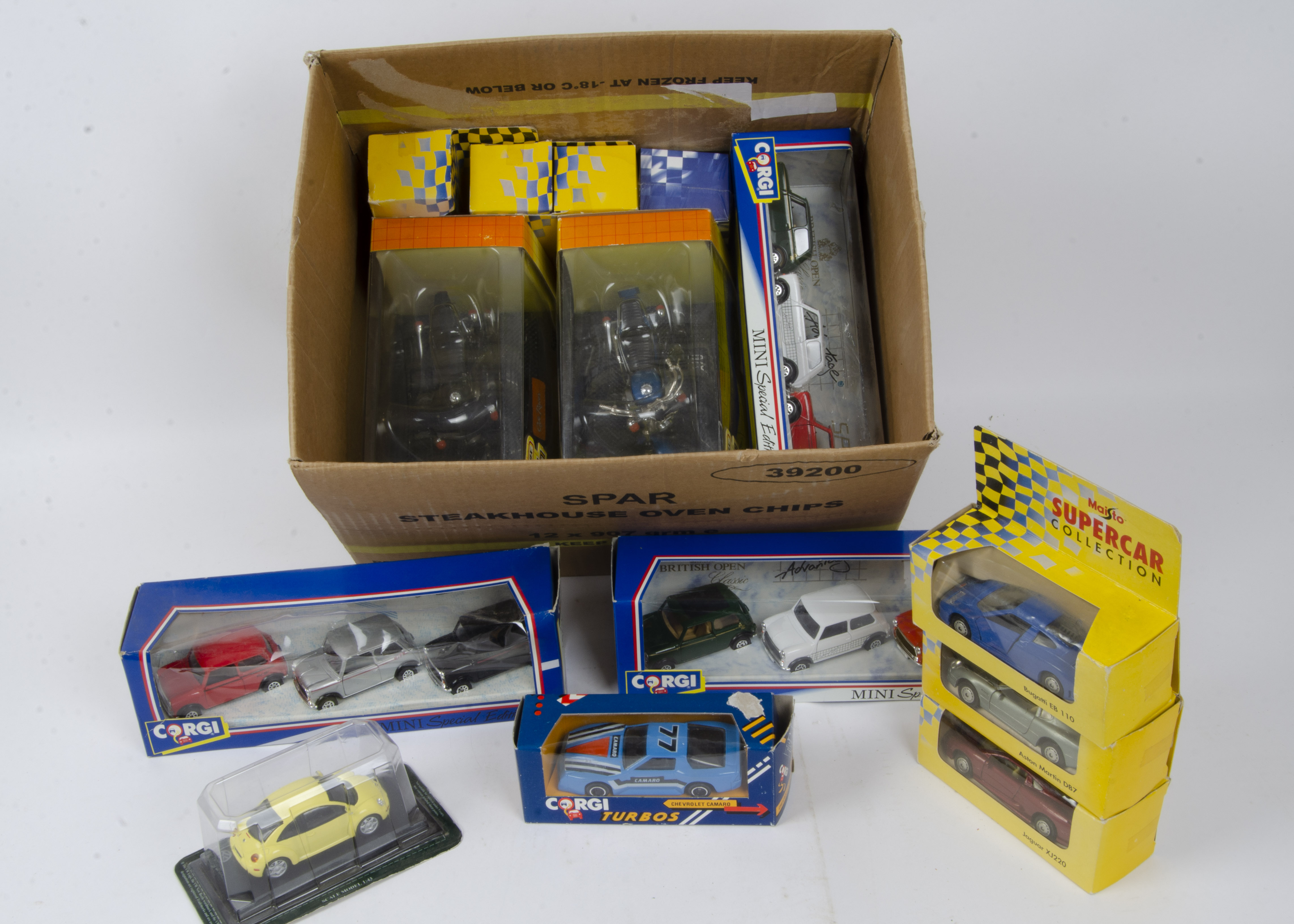 Modern Diecast 1:15 Scale and Smaller, a boxed collection of private and competition vehicles