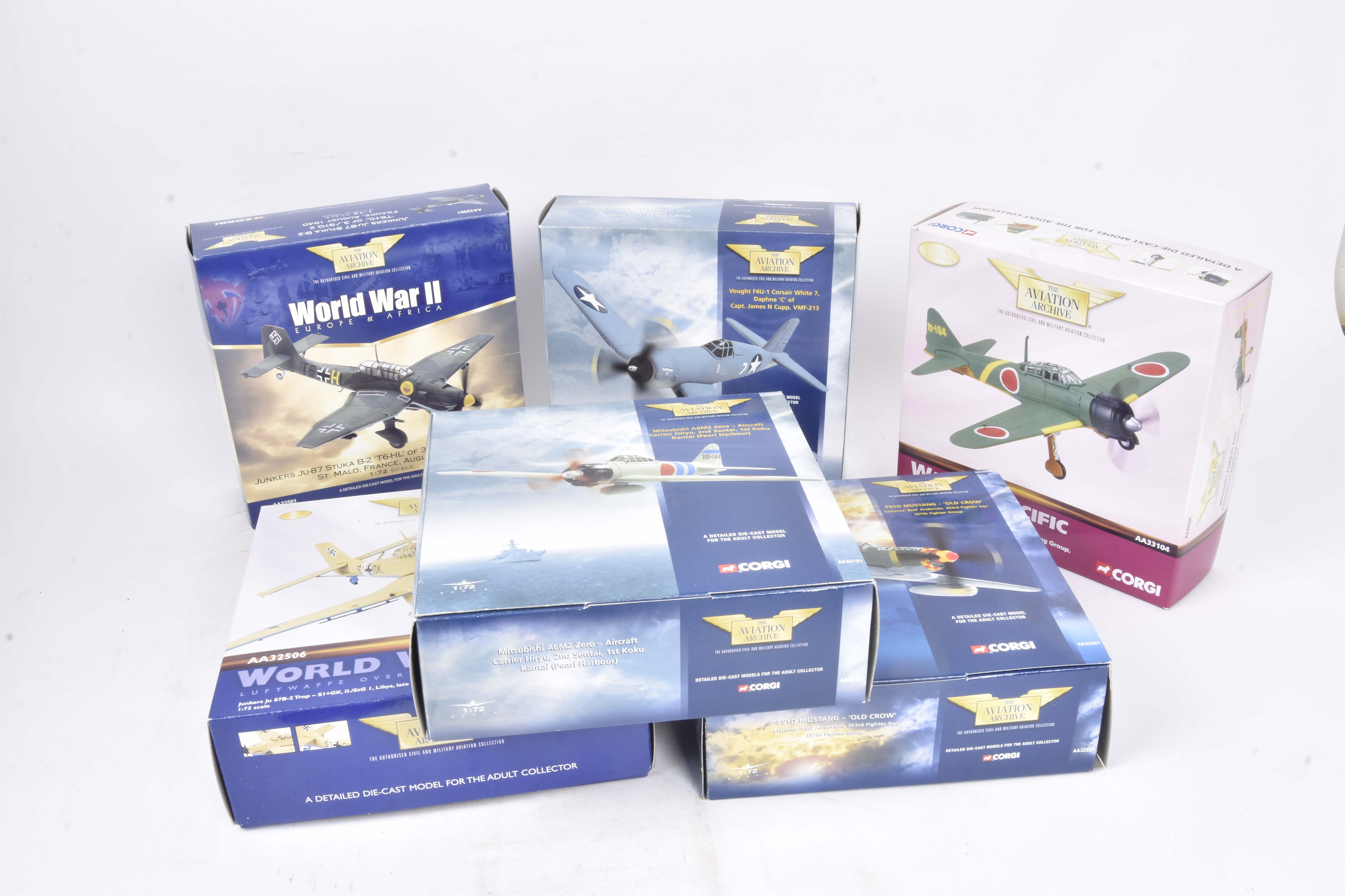 Corgi Aviation Archive , a boxed group of six all 1:72 scale some limited edition, comprising