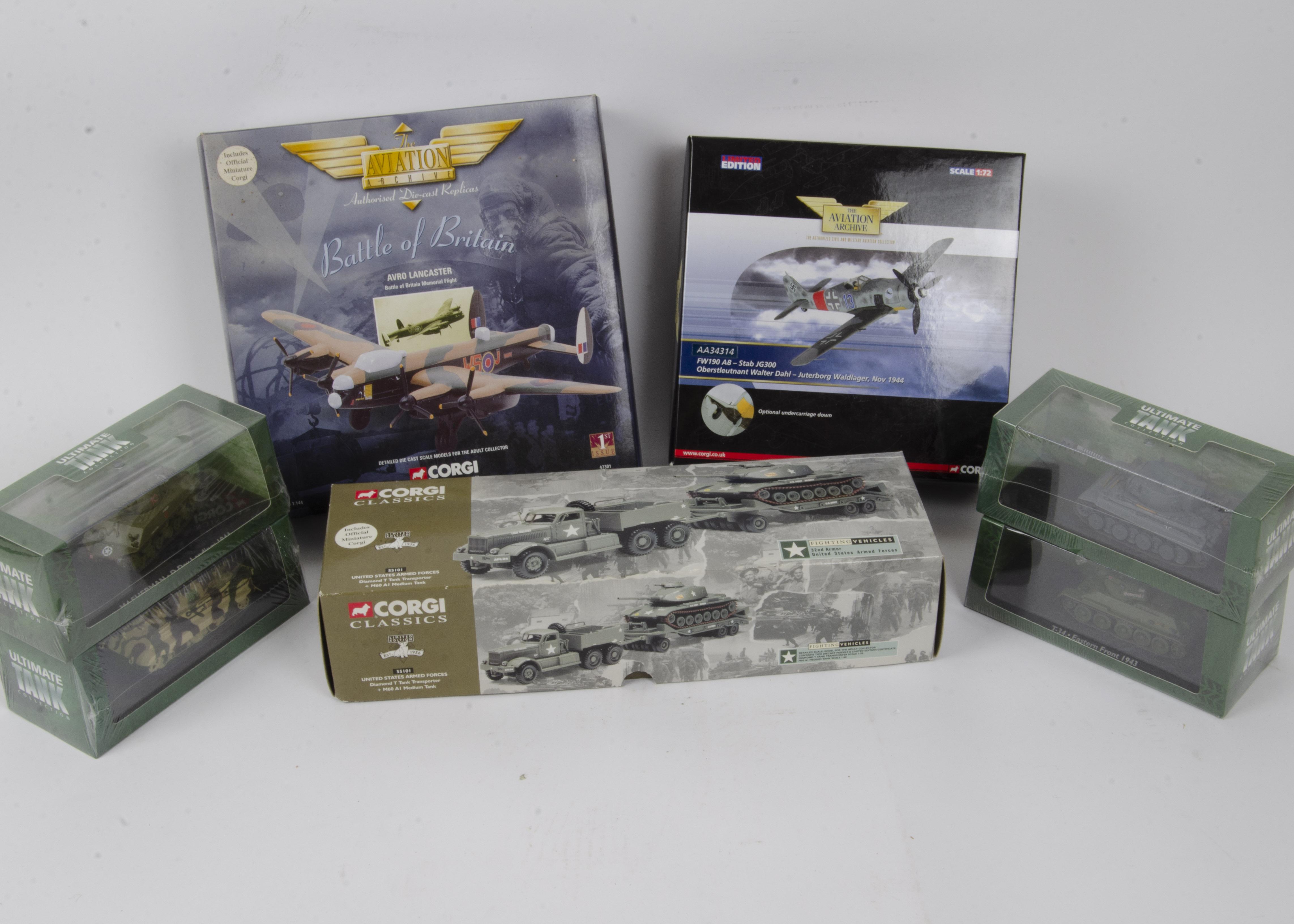 Modern Military Diecast Models, World War II era vehicles some limited edition including Corgi