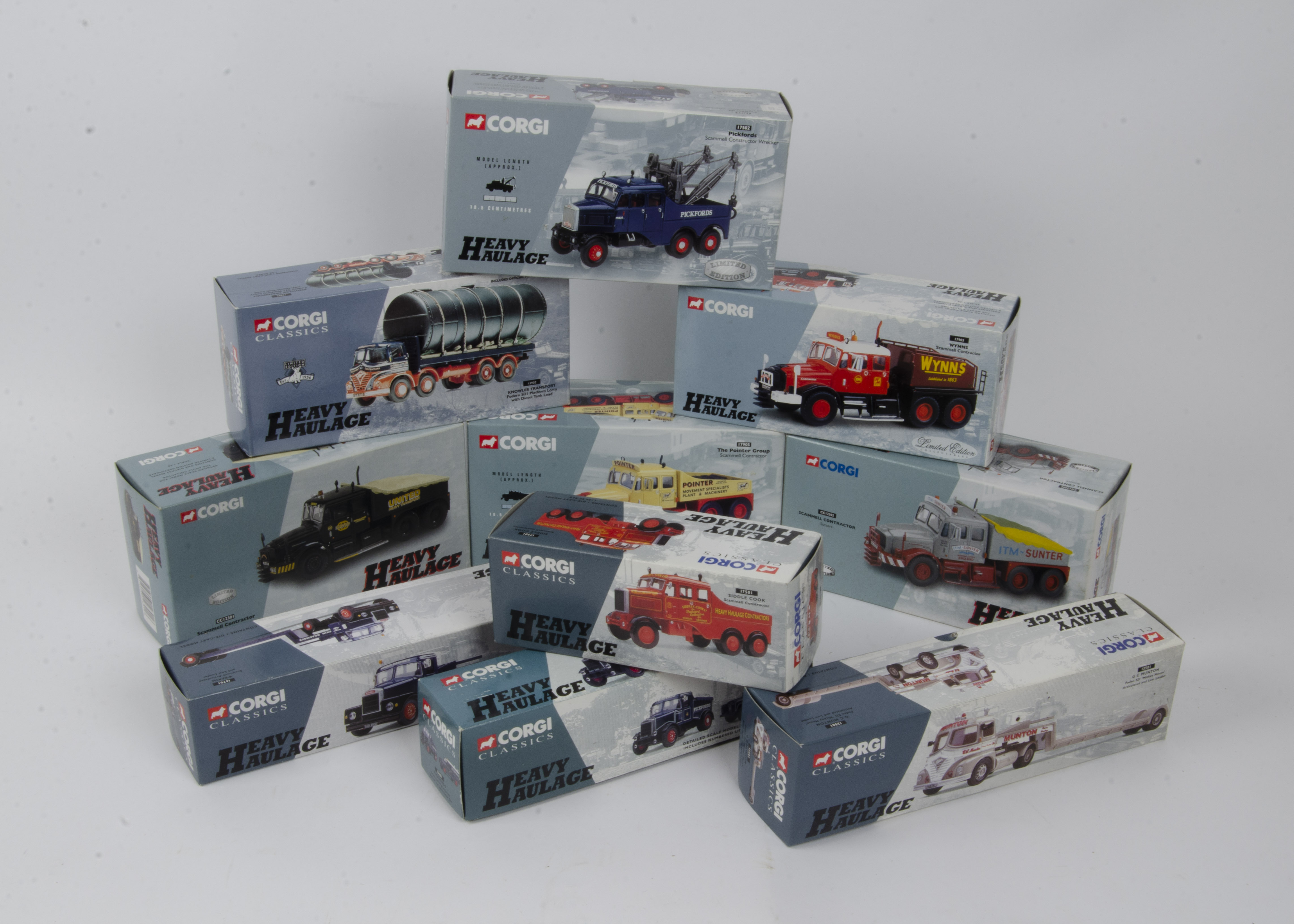 Corgi Classics Heavy Haulage, a boxed limited edition collection including Scammell Contractors