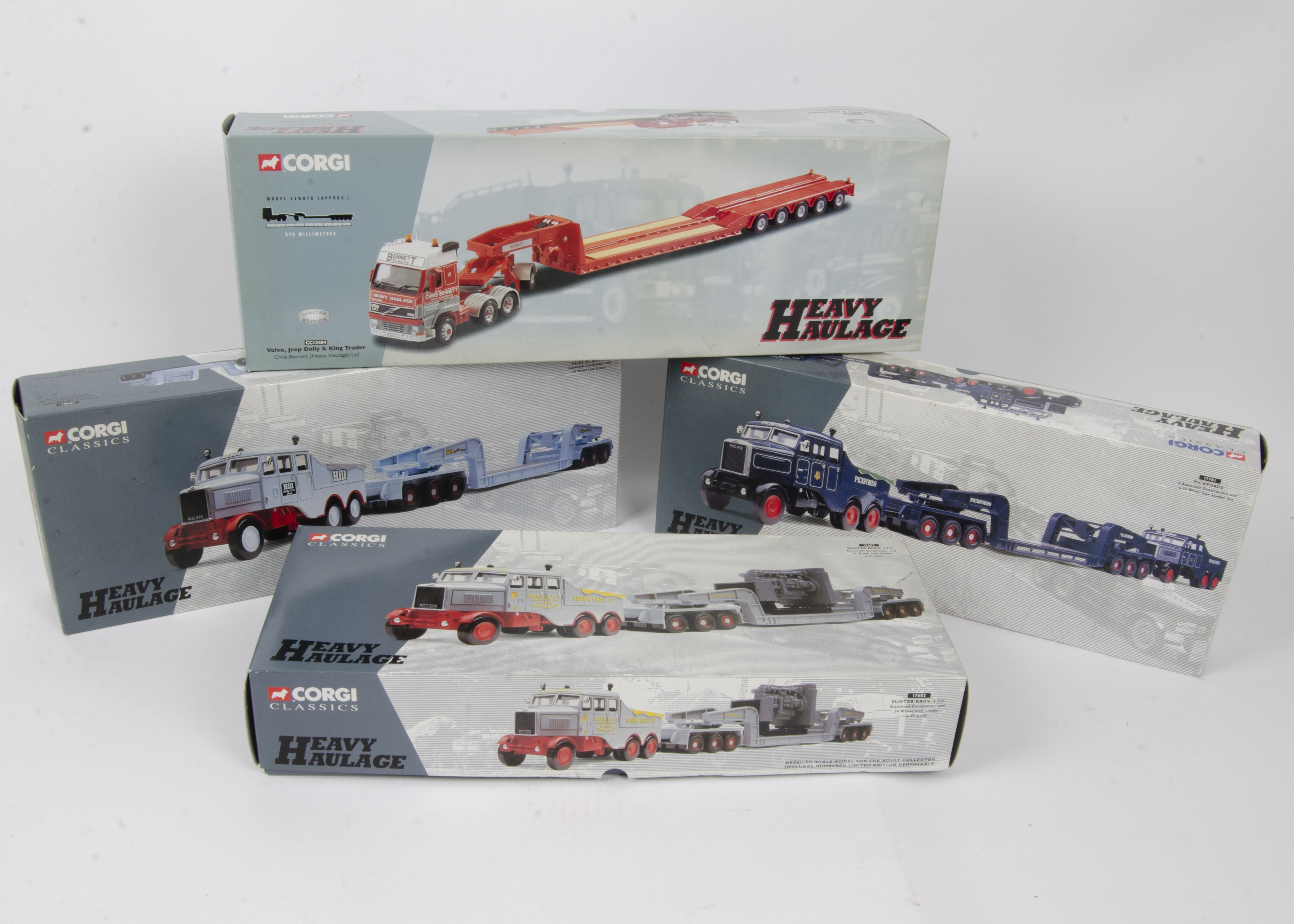 Corgi Classics Heavy Haulage, a boxed group of four limited edition comprising Scammell