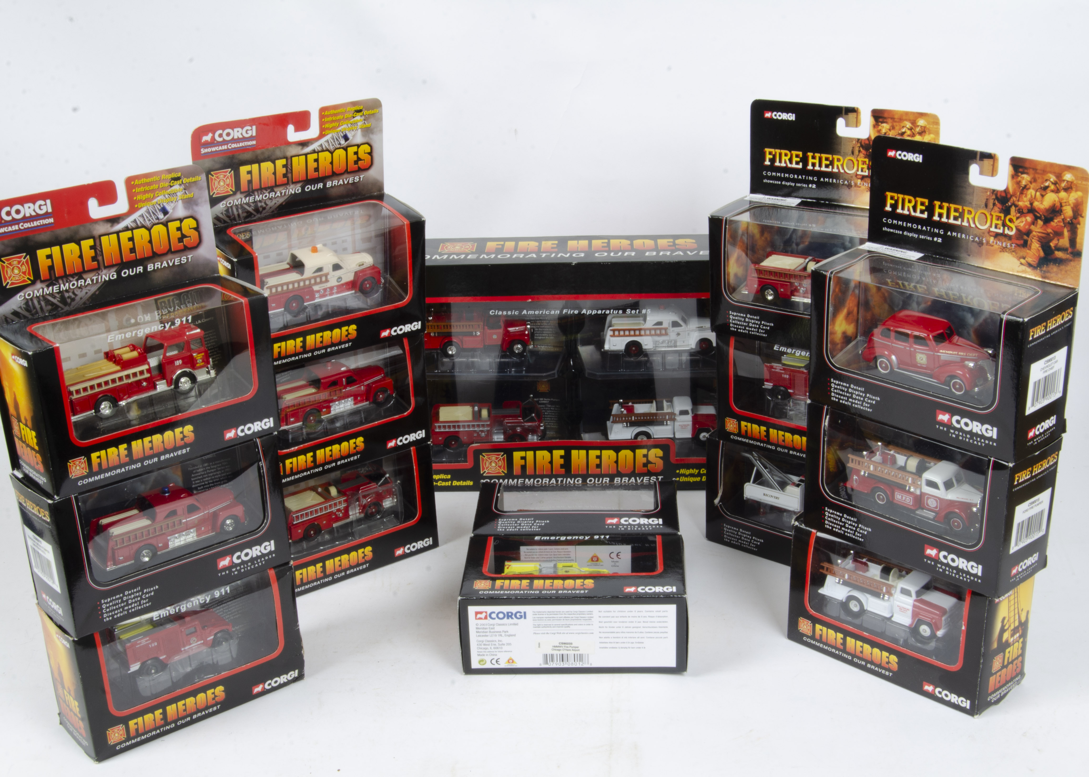 Corgi Fire Heroes Vanguards and Others, a boxed collection comprising Fire Heroes (24) including a