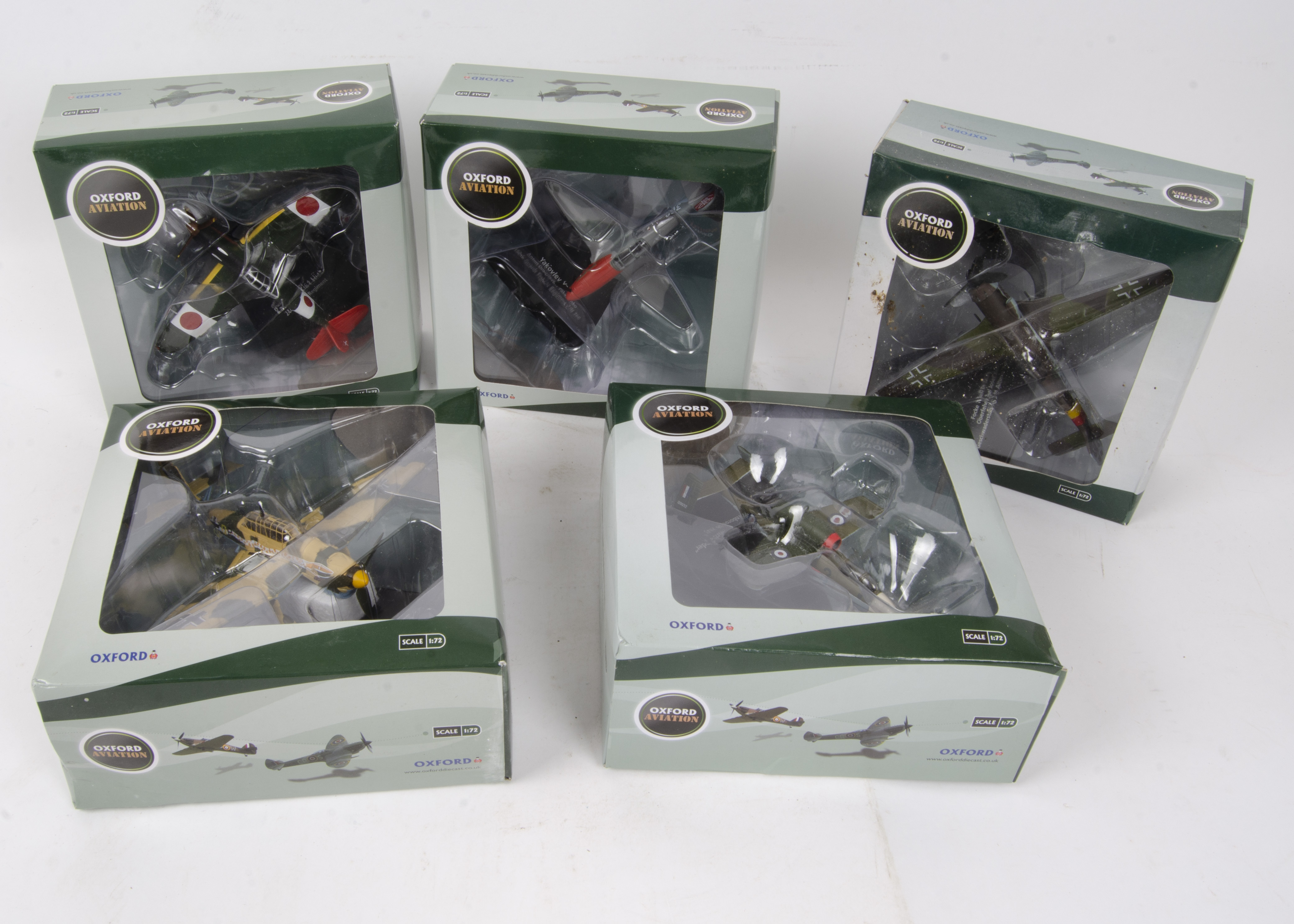 Oxford Aviation Front Line Fighters, a boxed collection of eleven models 1:72 scale comprising, - Image 2 of 2