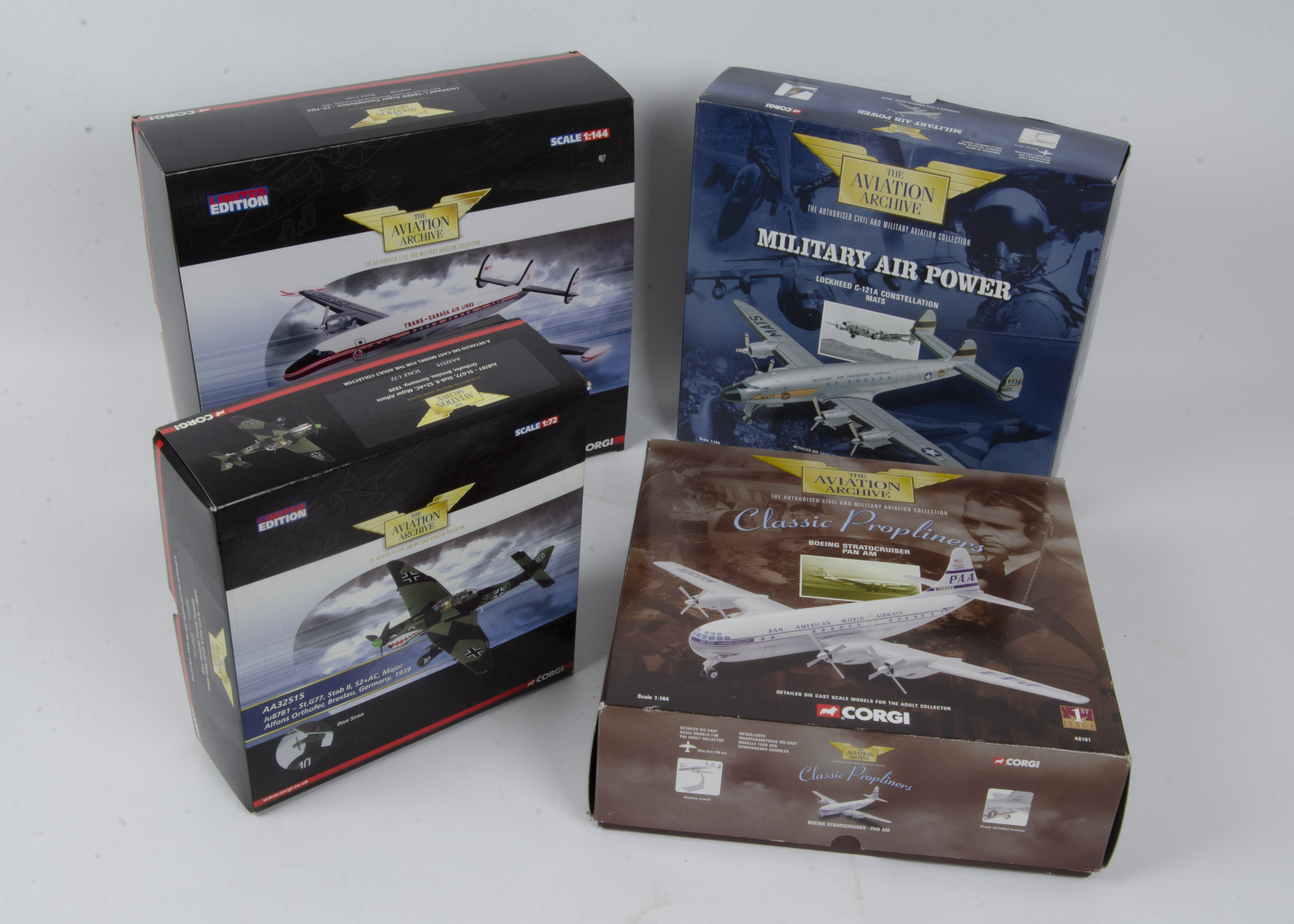 Corgi Aviation Archive , a boxed group of ten models some limited edition comprising 1:72 scale