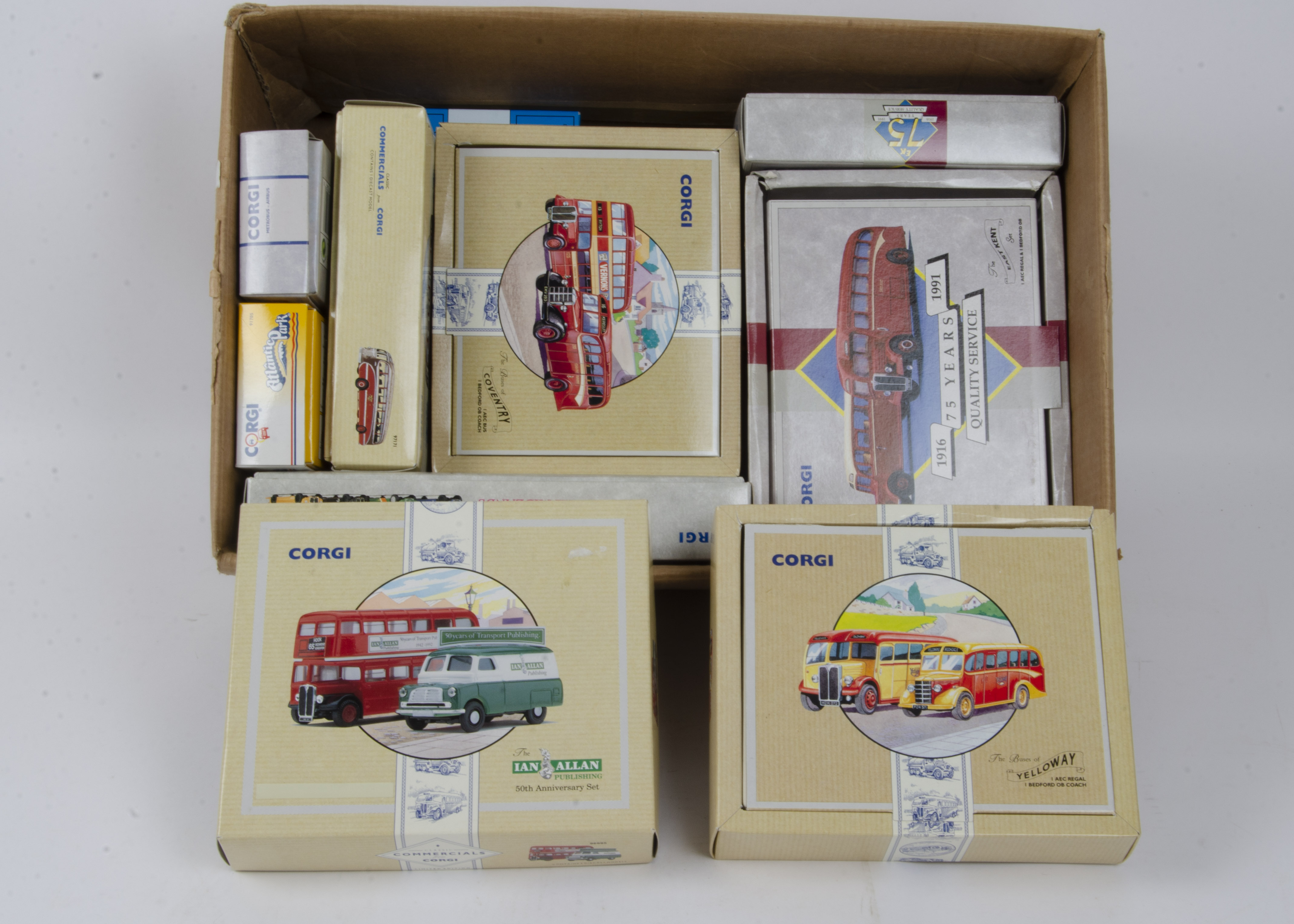 Corgi Classics Buses and Coaches, a boxed collection some limited edition including, 97067