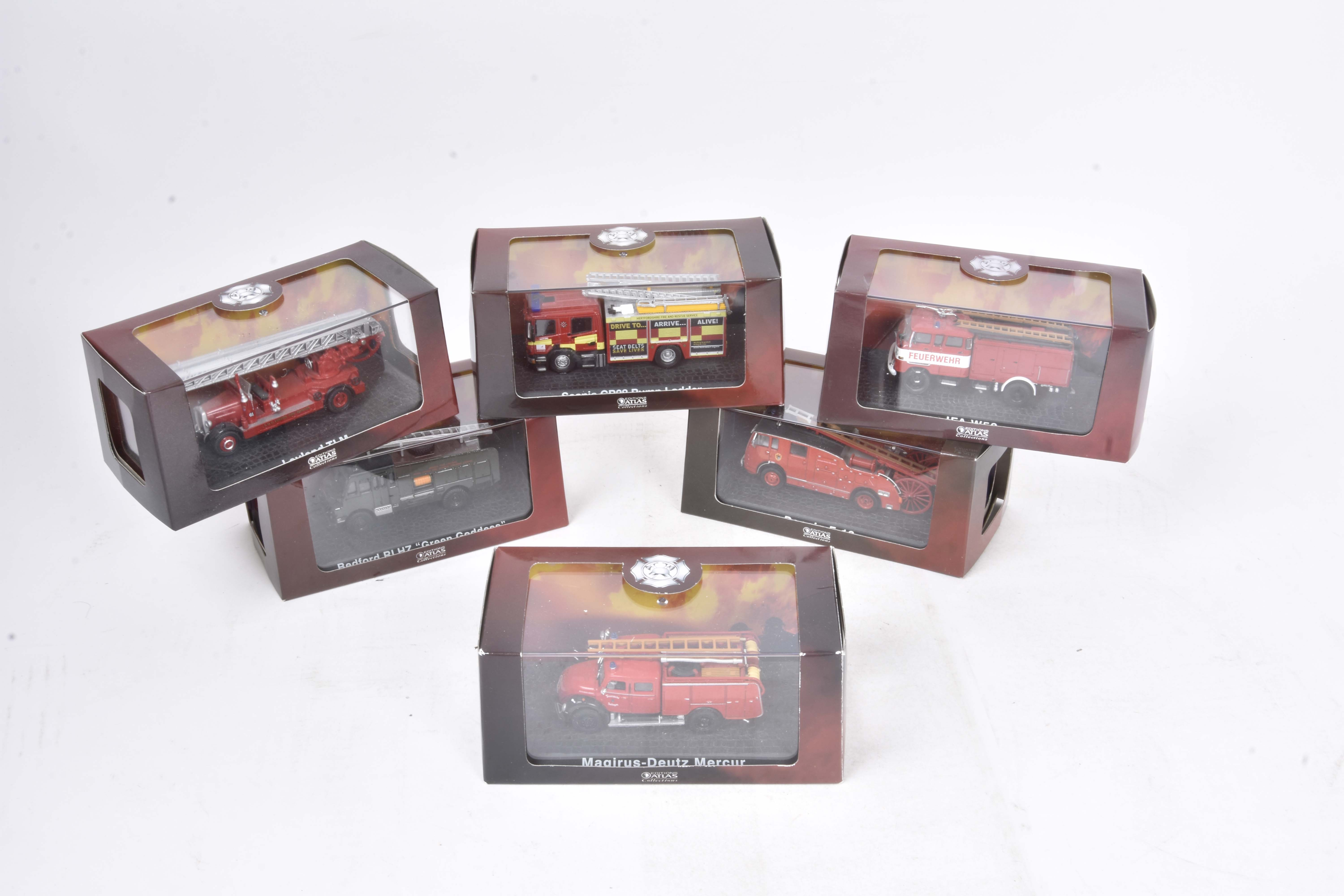 Modern Diecast Fire Engines and Related Vehicles, a boxed/cased collection including Atlas