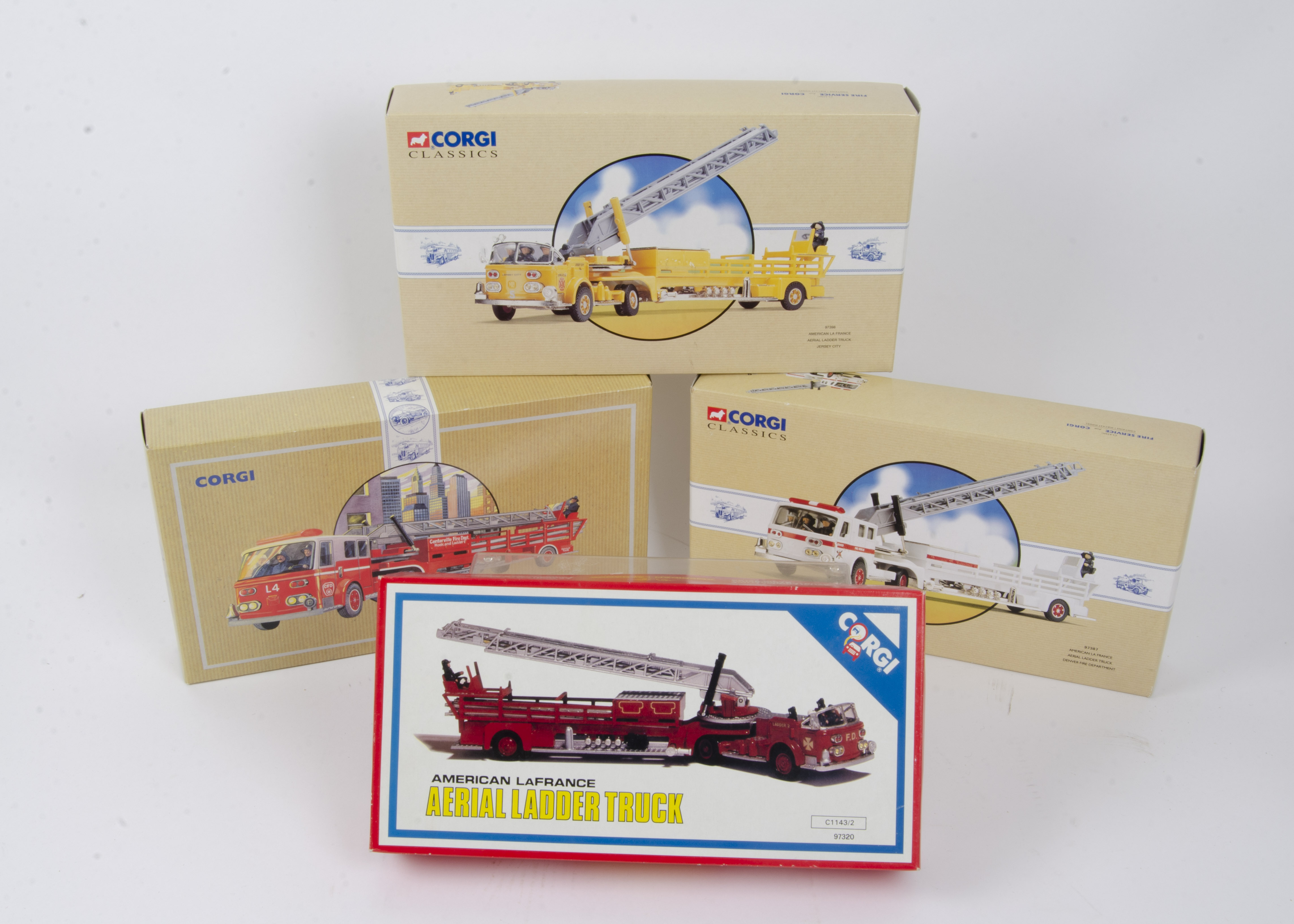 Corgi Classics American Fire Engines, a boxed group of four comprising La France engines 97398 - Image 2 of 2