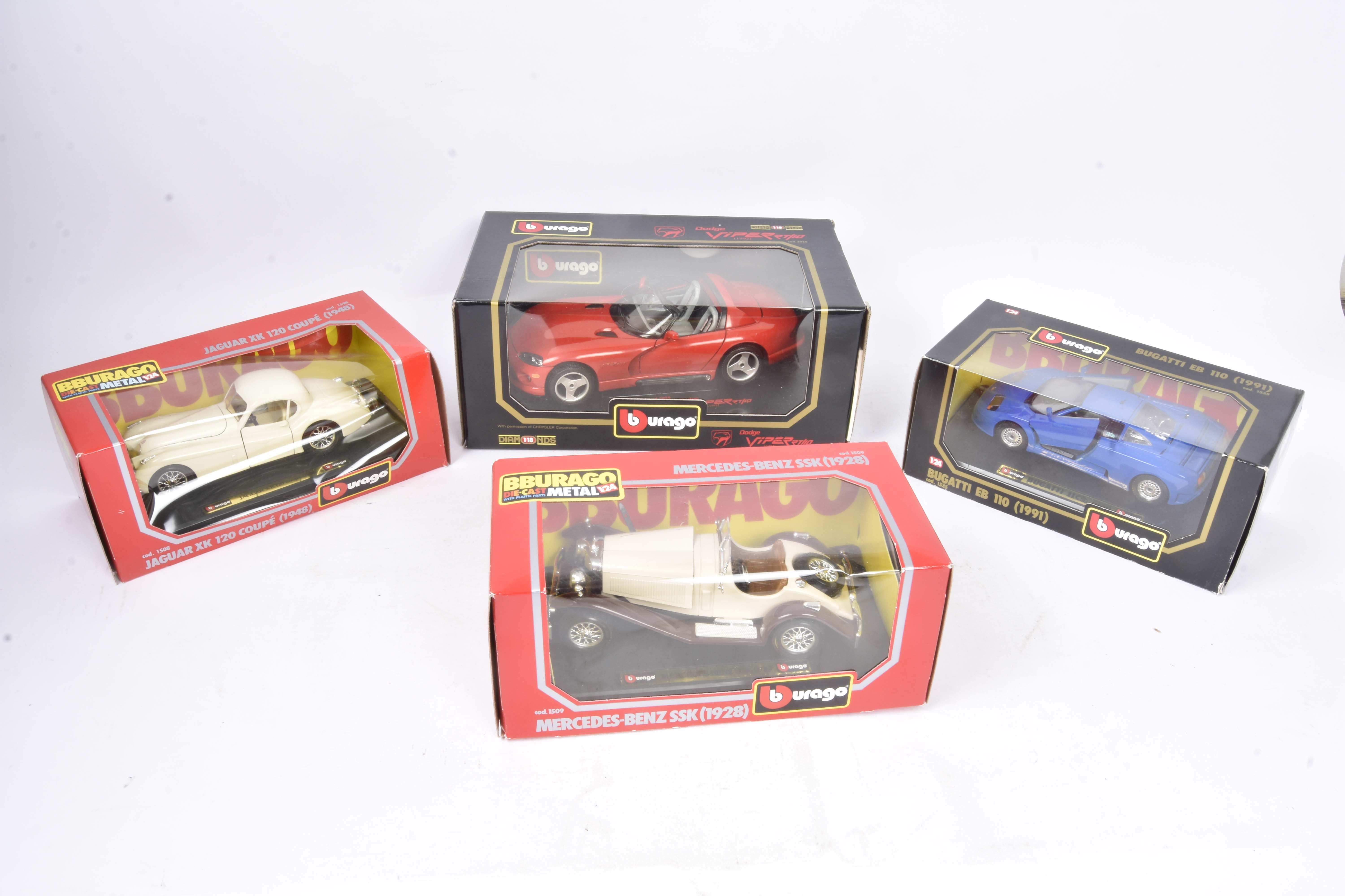 Burago and Revell 1:18/1:24 Scale Vehicles, a boxed collection of private vehicles including 1:18