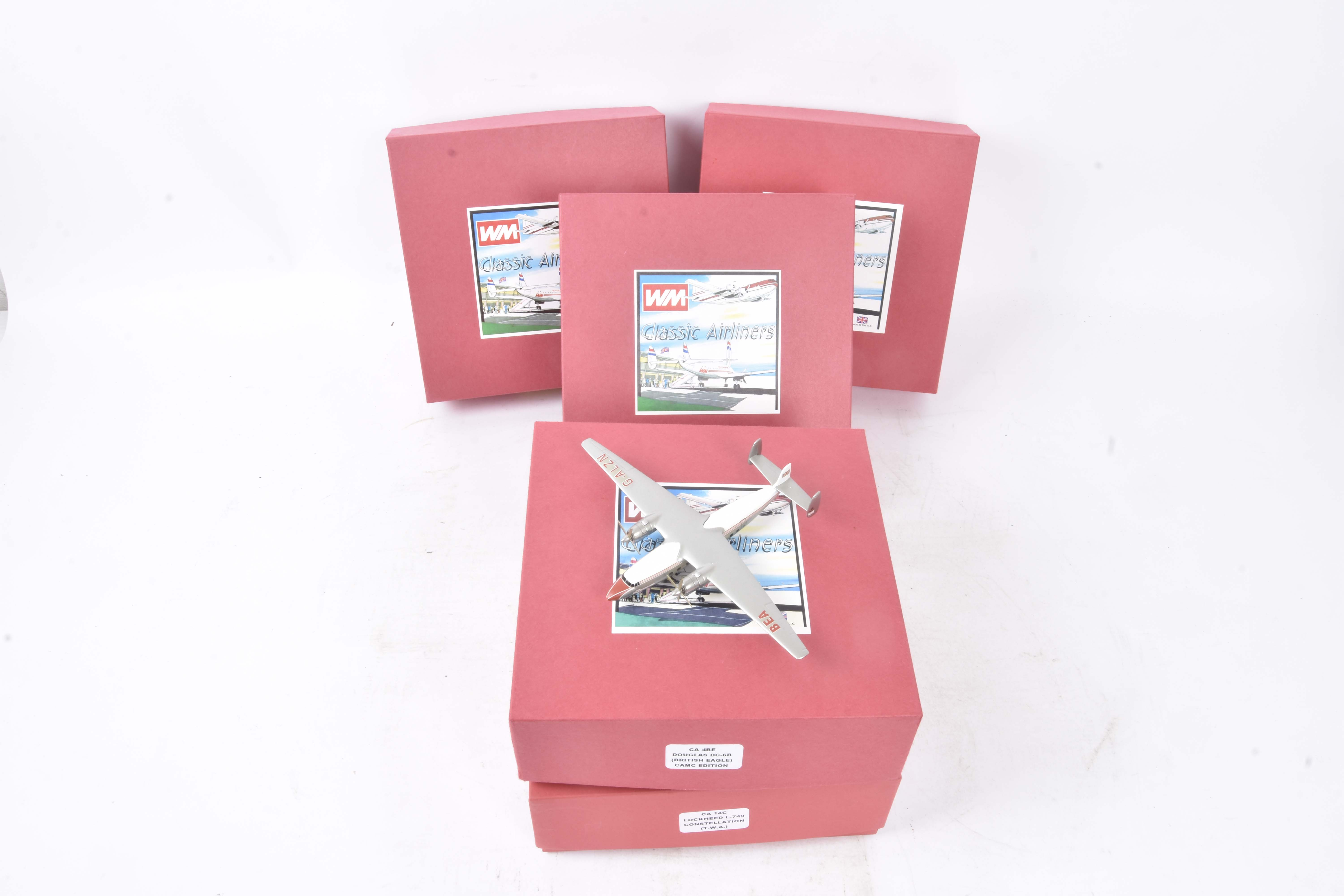 WM Classic Airliners, a boxed group of six all with outer card sleeves, comprising CA3 (Special)
