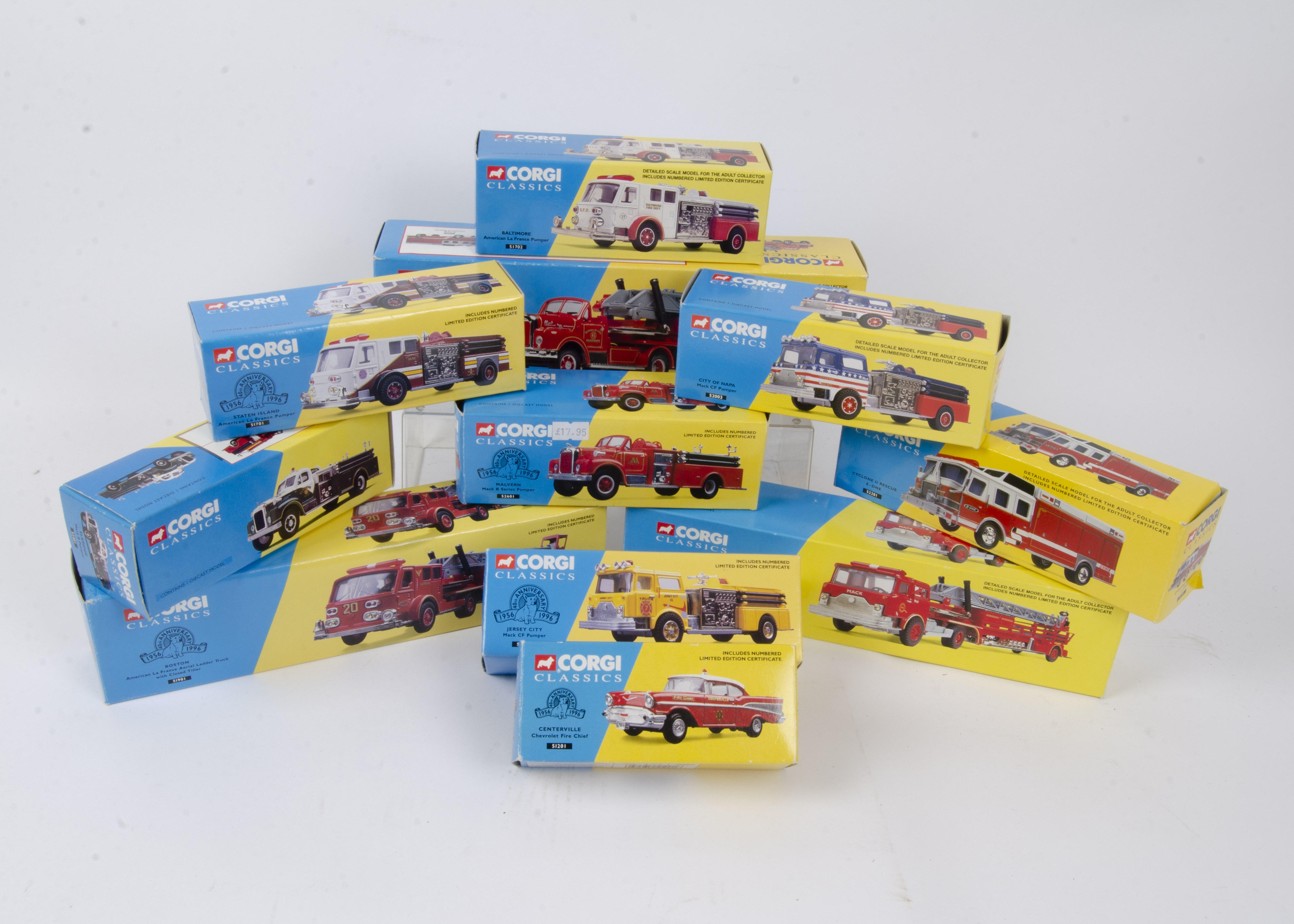 Corgi Classics American Fire Engines and Related Vehicles, a boxed collection some limited edition
