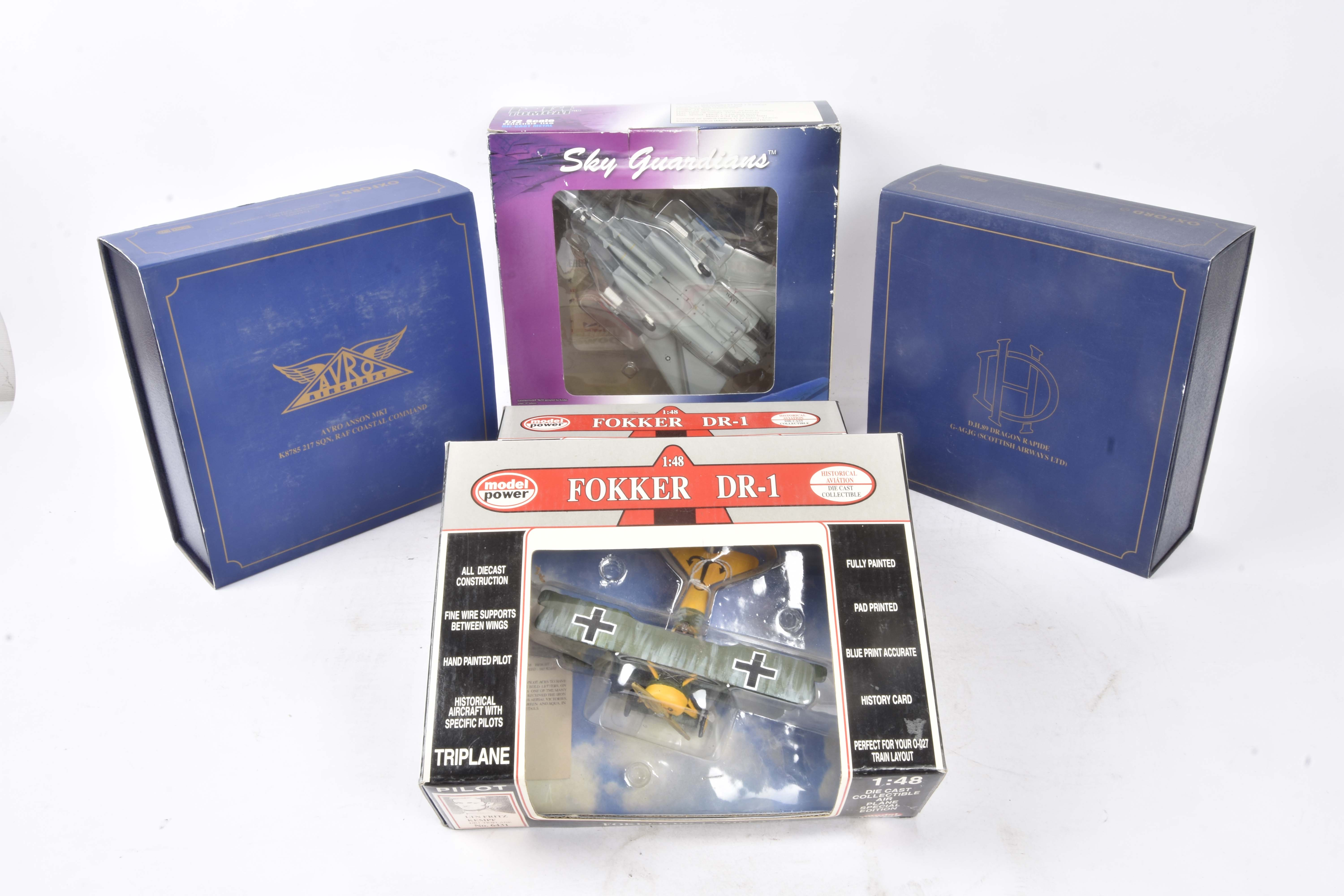 WW1 and Later Aircraft Models, a boxed group of six comprising 1:48 scale Lupa Models F/A-18