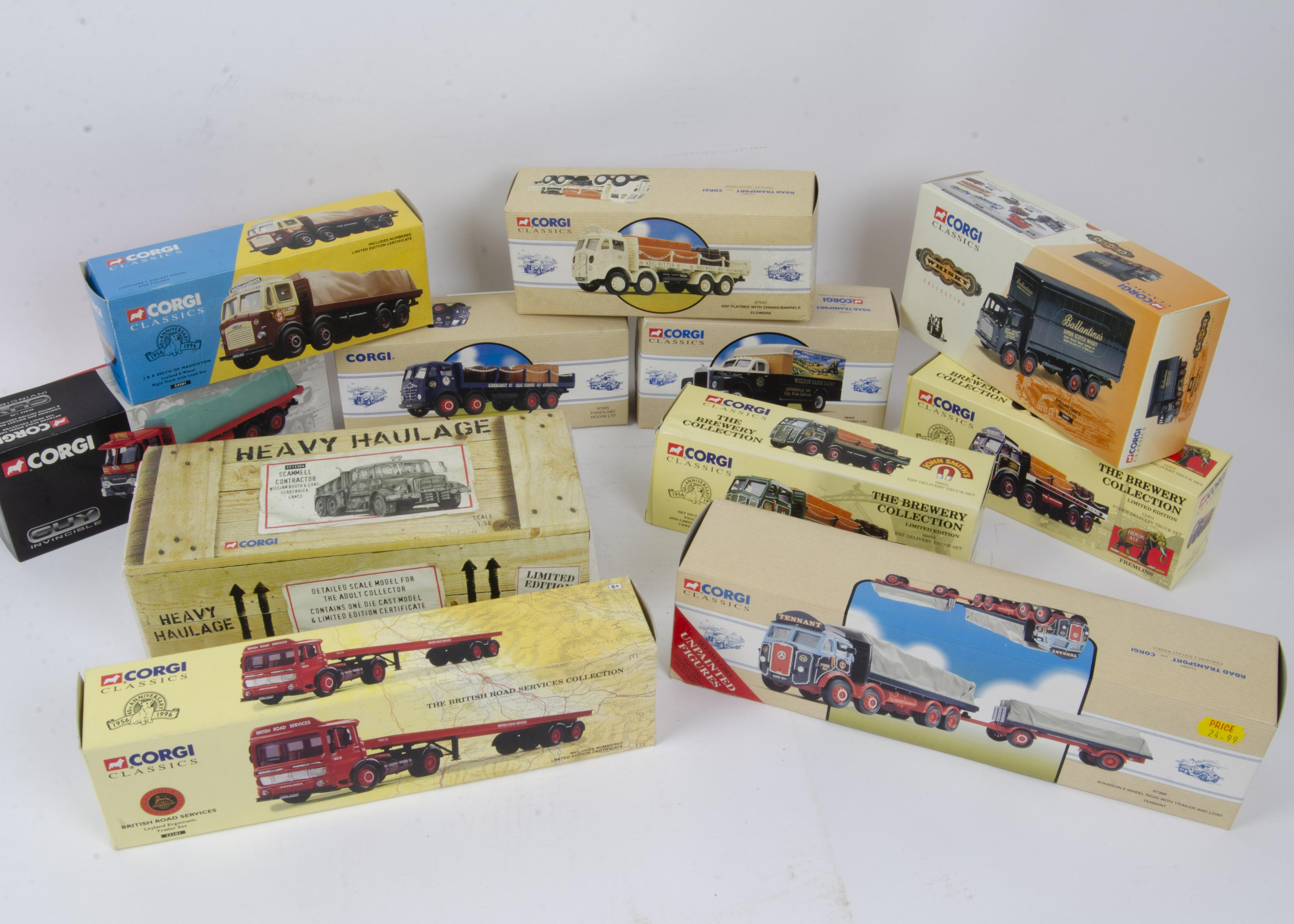 Corgi Classics Commercial Models, a boxed collection comprising, 98454 Wilton Farm Mack B van, 26001