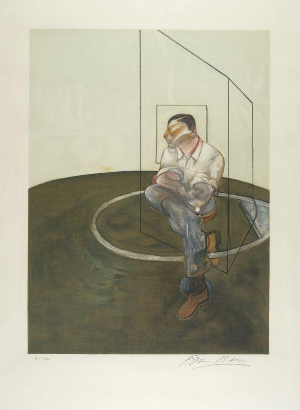 Lot 18 - Francis BACON (1909-1992) - Etude pour le portrait de John Edwards, 1986 - [...]