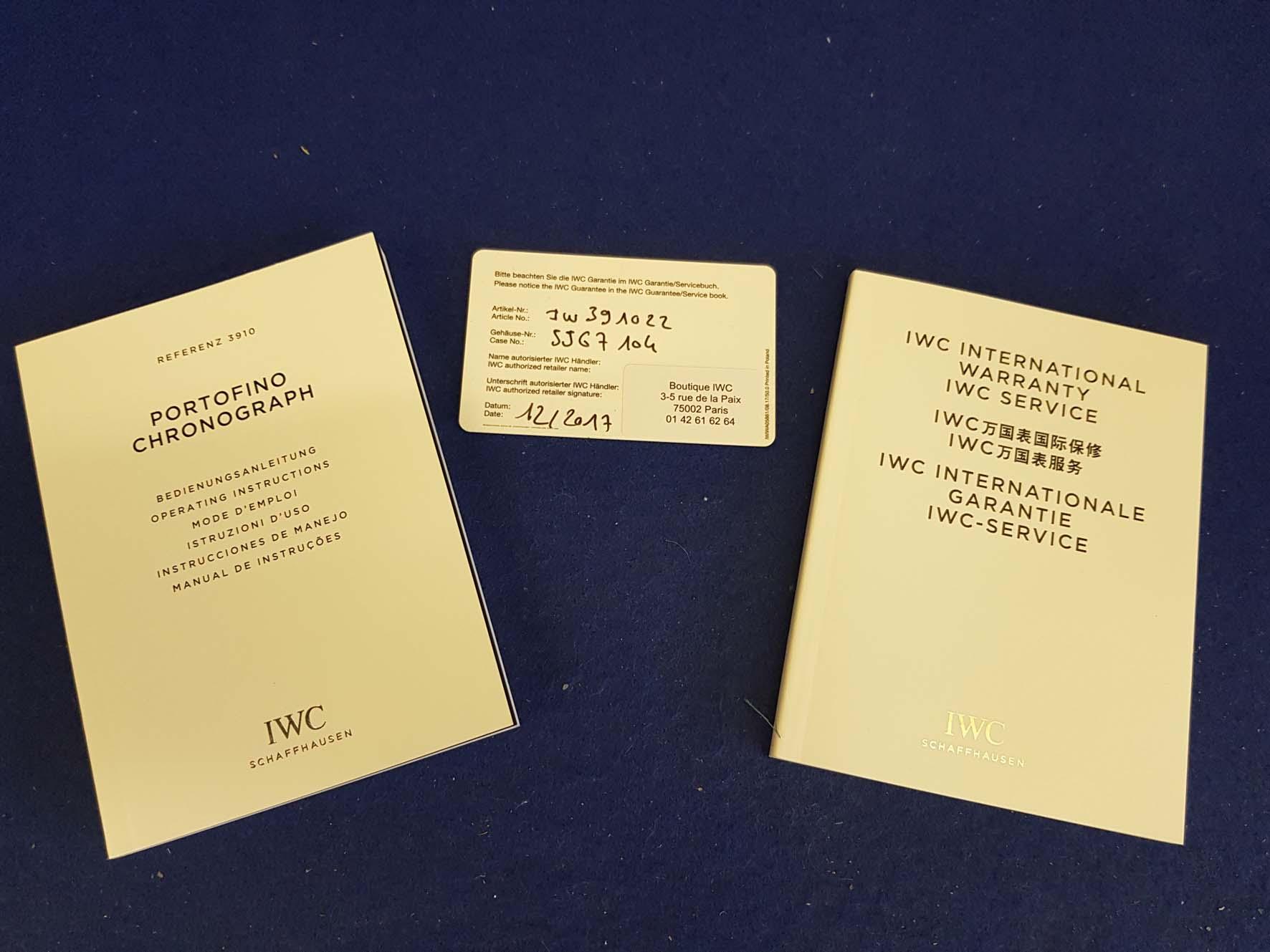 Lot 2 - IWC SCHAFFHAUSEN Portofino Gentleman's Stainless Steel Chronograph Wrist Watch, Day/Date Function,