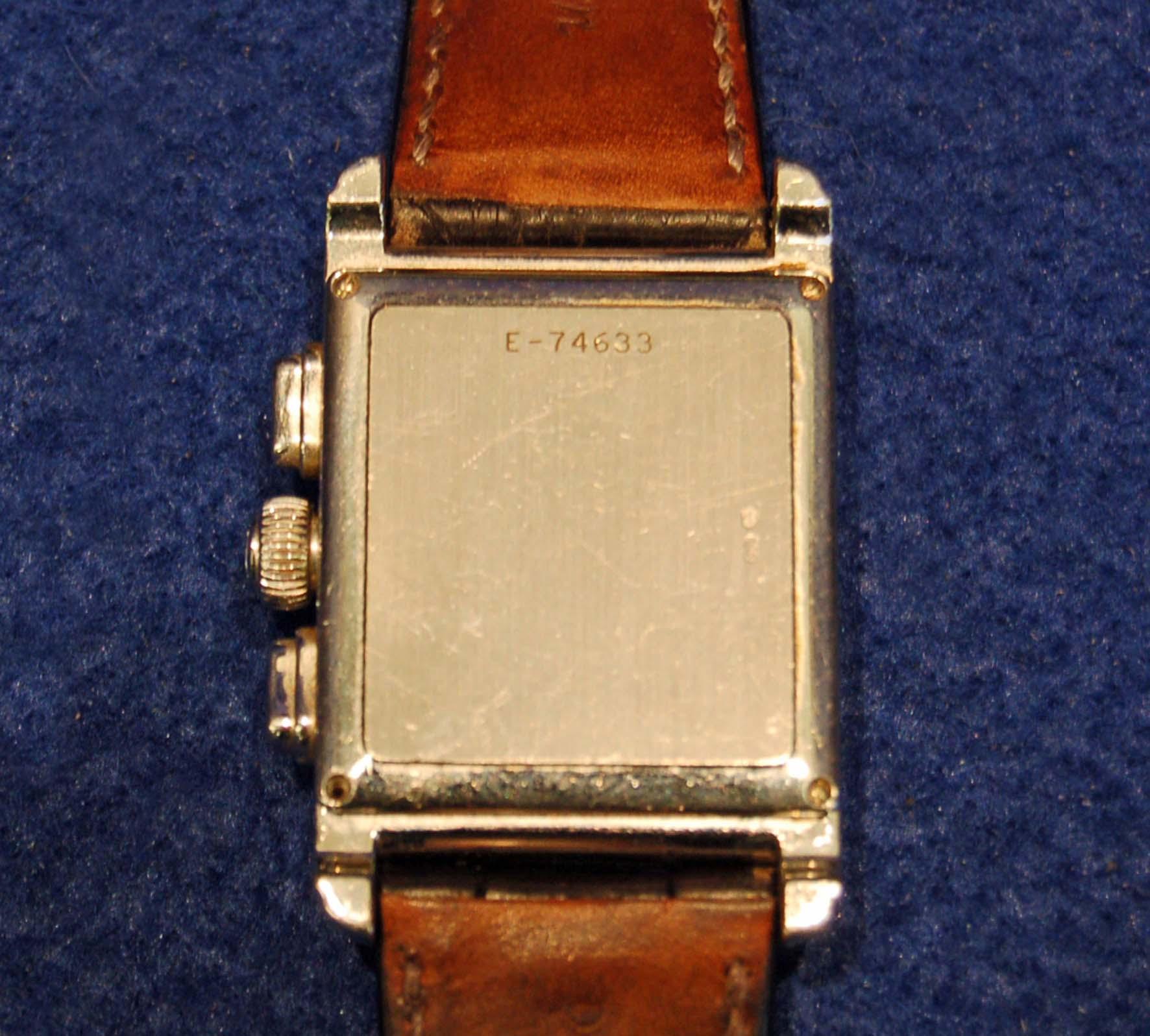 Lot 1 - AUDEMARS PIGUET Gentleman's 18ct White Gold Wrist Watch, Edward Piguet Chronograph E74633,