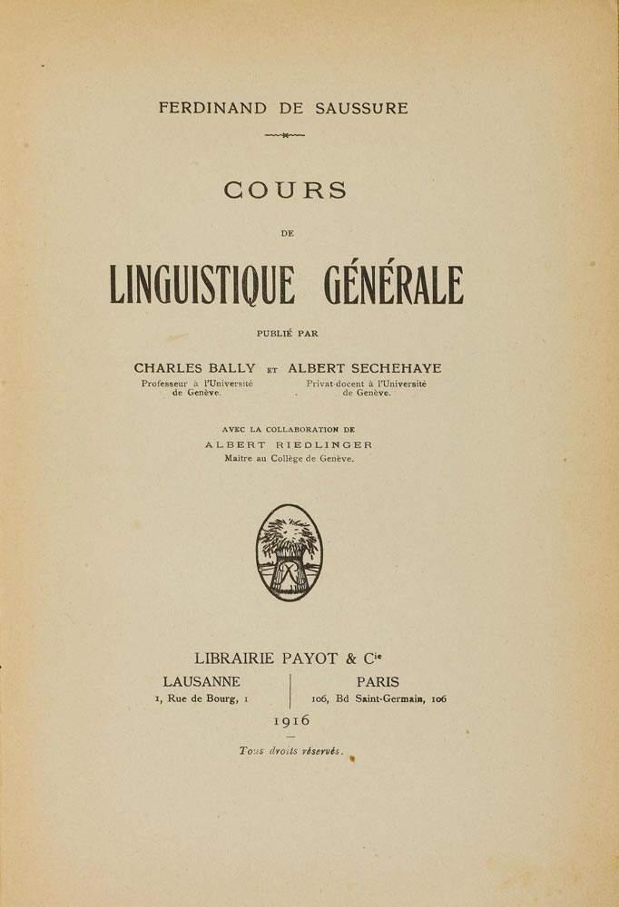 Resultado de imagen de cours de linguistique générale