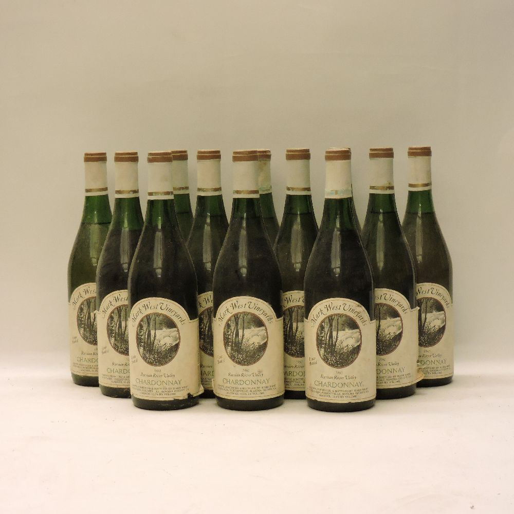 Lot 47 - Mark West Vineyards, Russian River Valley, Chardonnay, 1980, twelve bottles