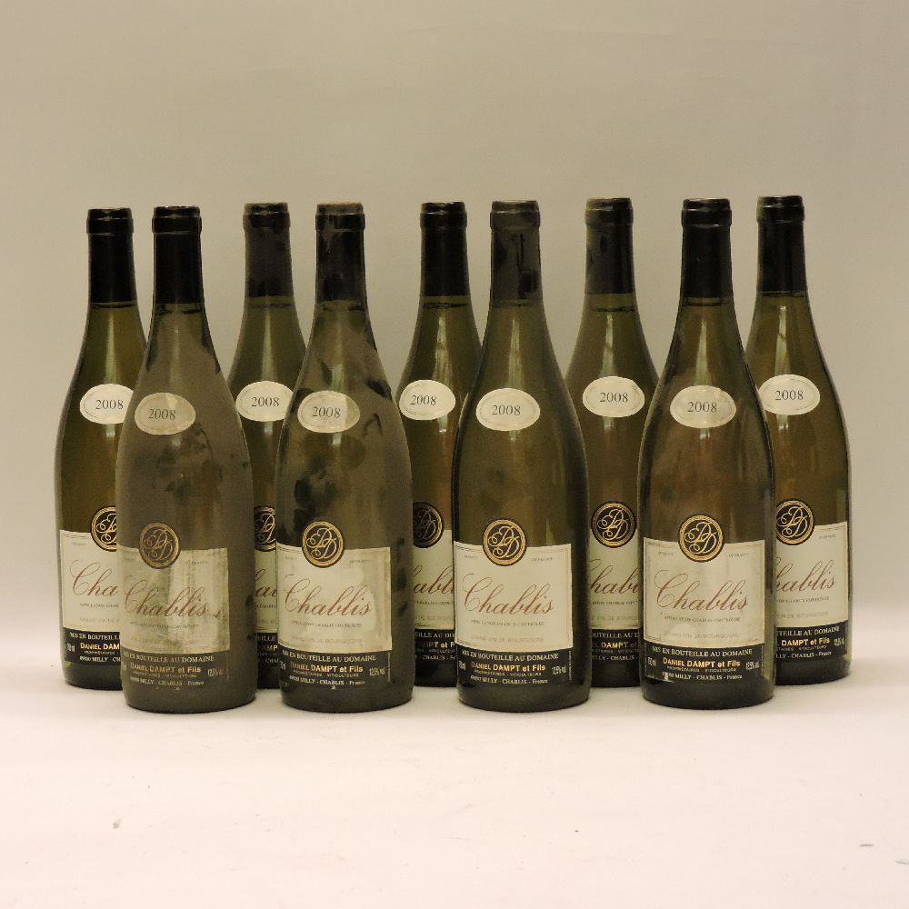 Lot 5 - Chablis, Daniel Dampt, 2008, nine bottles (original box for twelve bottles)