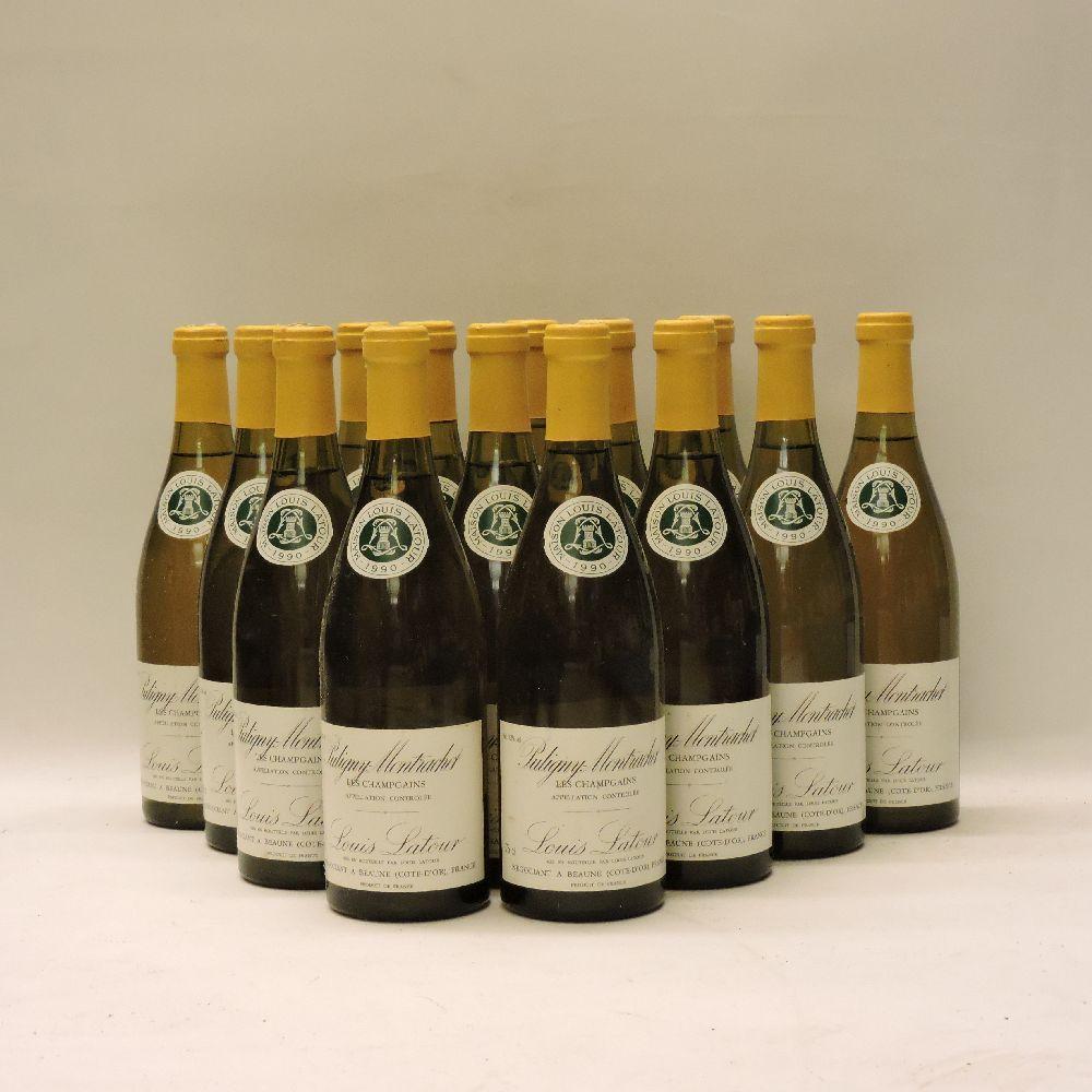 Lot 38 - Puligny-Montrachet, Les Champ Gain, Louis Latour, 1990, fourteen bottles