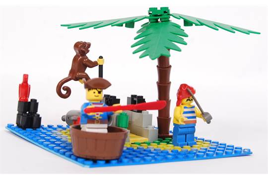 A Vintage Lego Legoland Pirates Set No 6260 Shipwreck Island Appears Complete Unchecked By