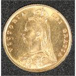 AN 1887 VICTORIA JUBILEE HALF SOVEREIGN.