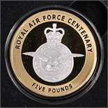 """A GUERNSEY LIMITED EDITION FIVE POUND GOLD PROOF COIN, """"CELEBRATING 100 YEARS OF THE ROYAL AIR"""